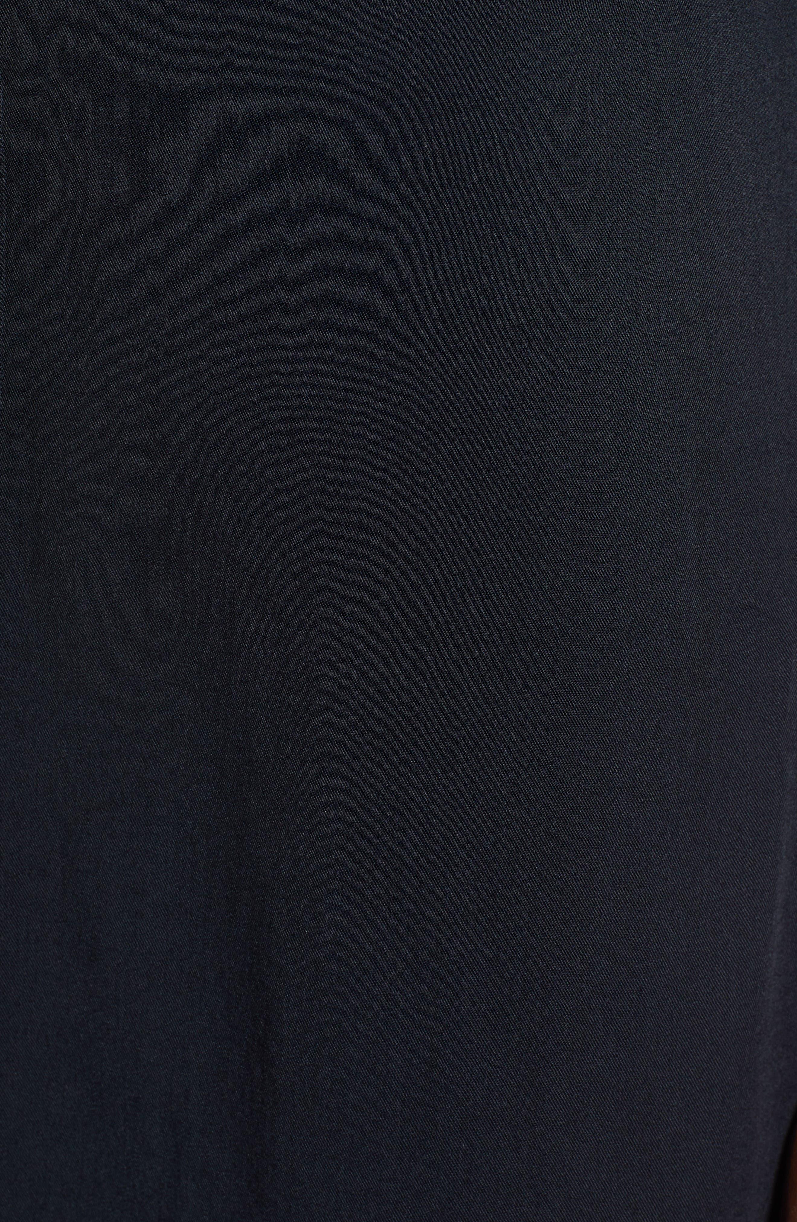 Tomini Bay View Shirtdress,                             Alternate thumbnail 6, color,                             TRUE BLACK