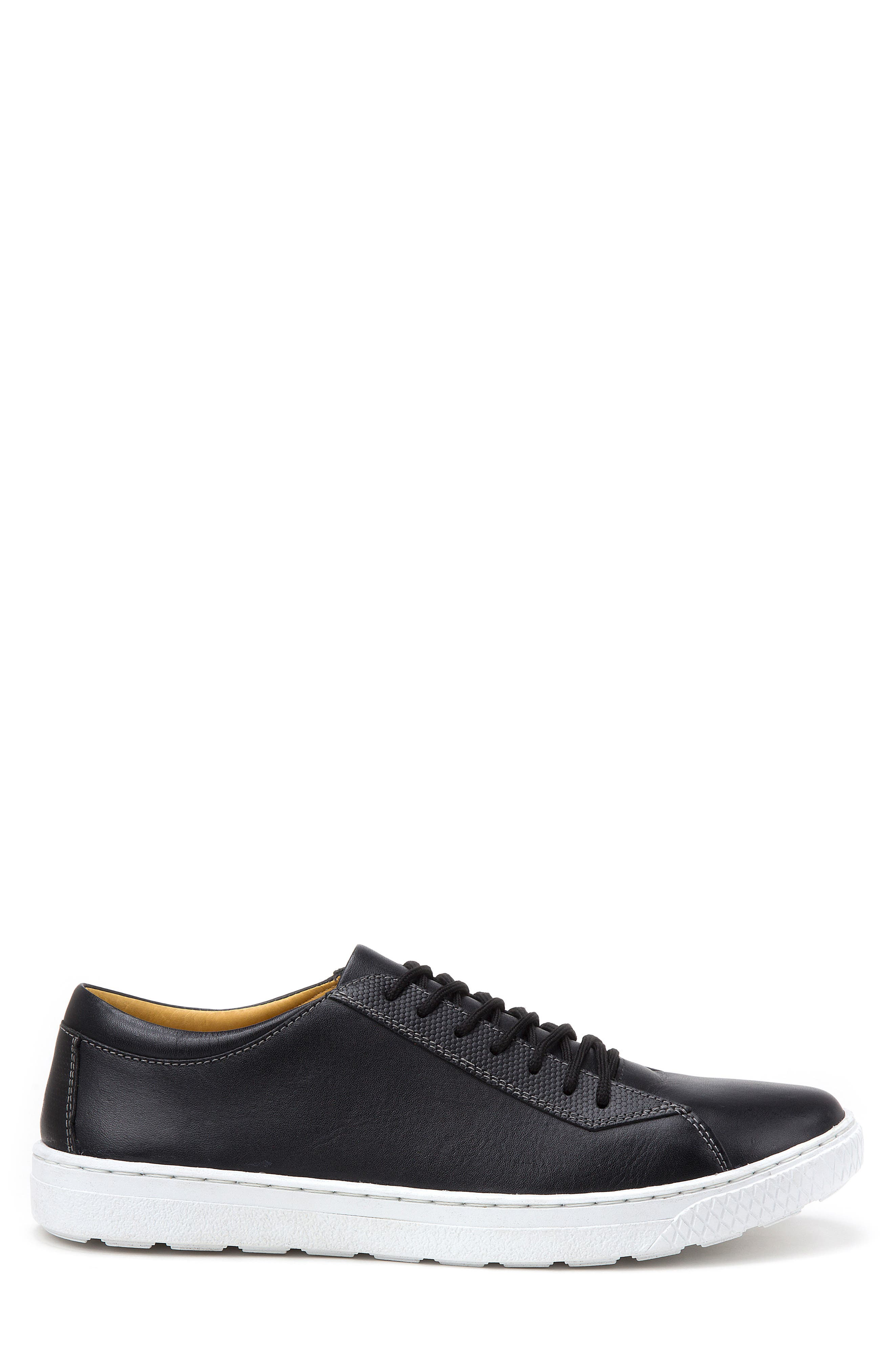 Minh Low Top Sneaker,                             Alternate thumbnail 3, color,                             BLACK LEATHER