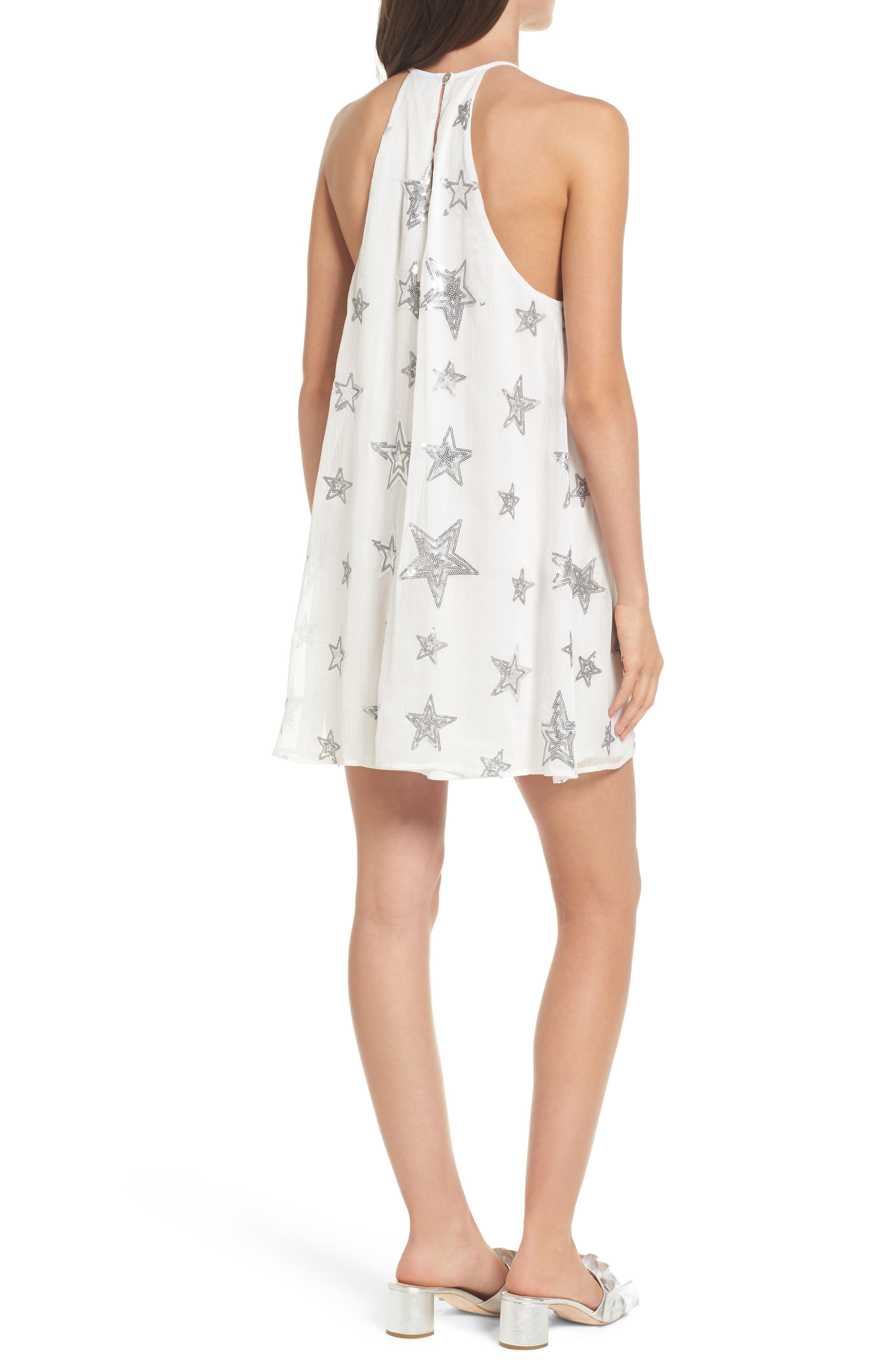 Gomez Embroidered Shift Dress,                             Alternate thumbnail 2, color,                             100