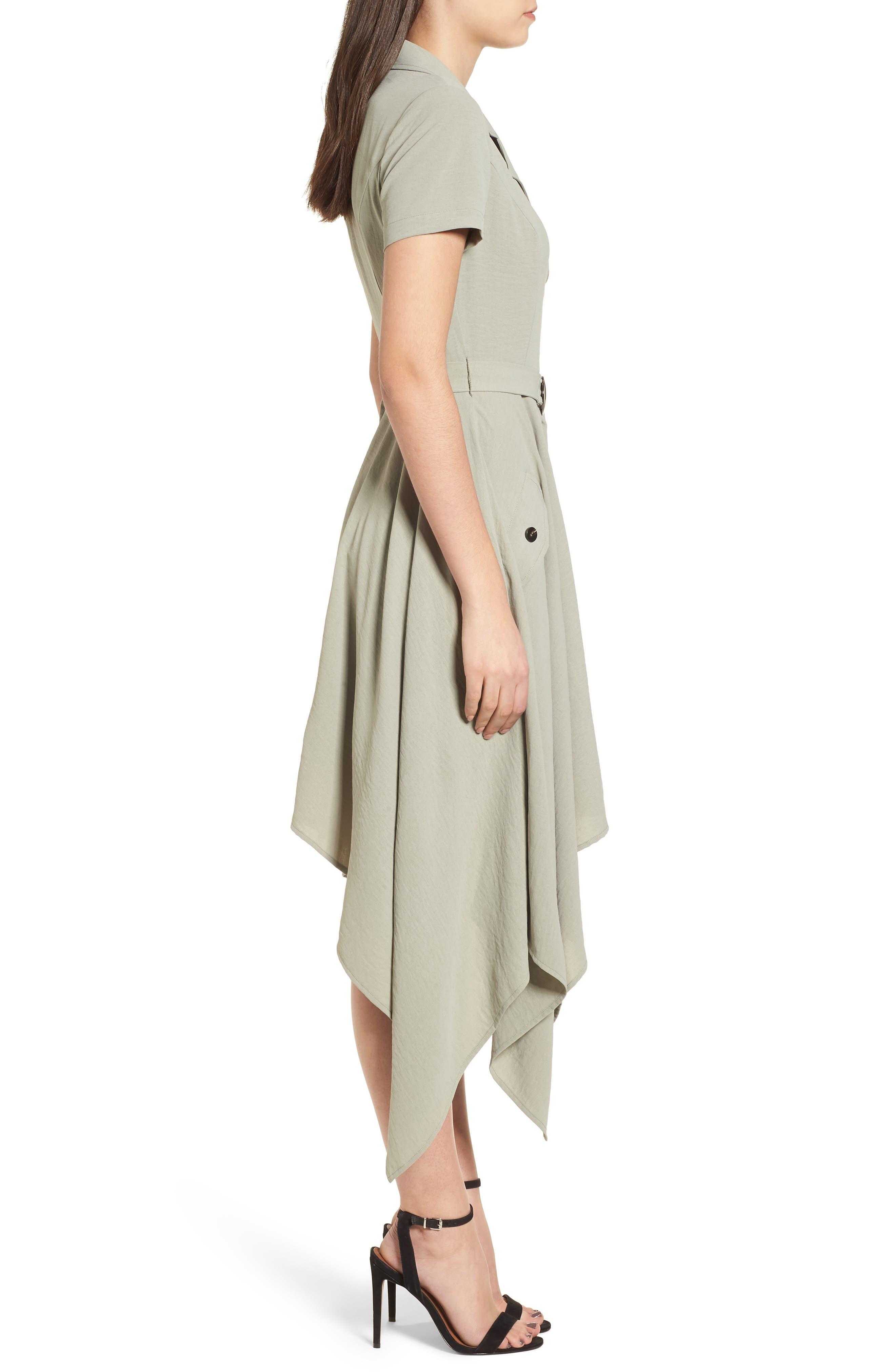 Chriselle x J.O.A. Asymmetrical Trench Dress,                             Alternate thumbnail 4, color,                             300