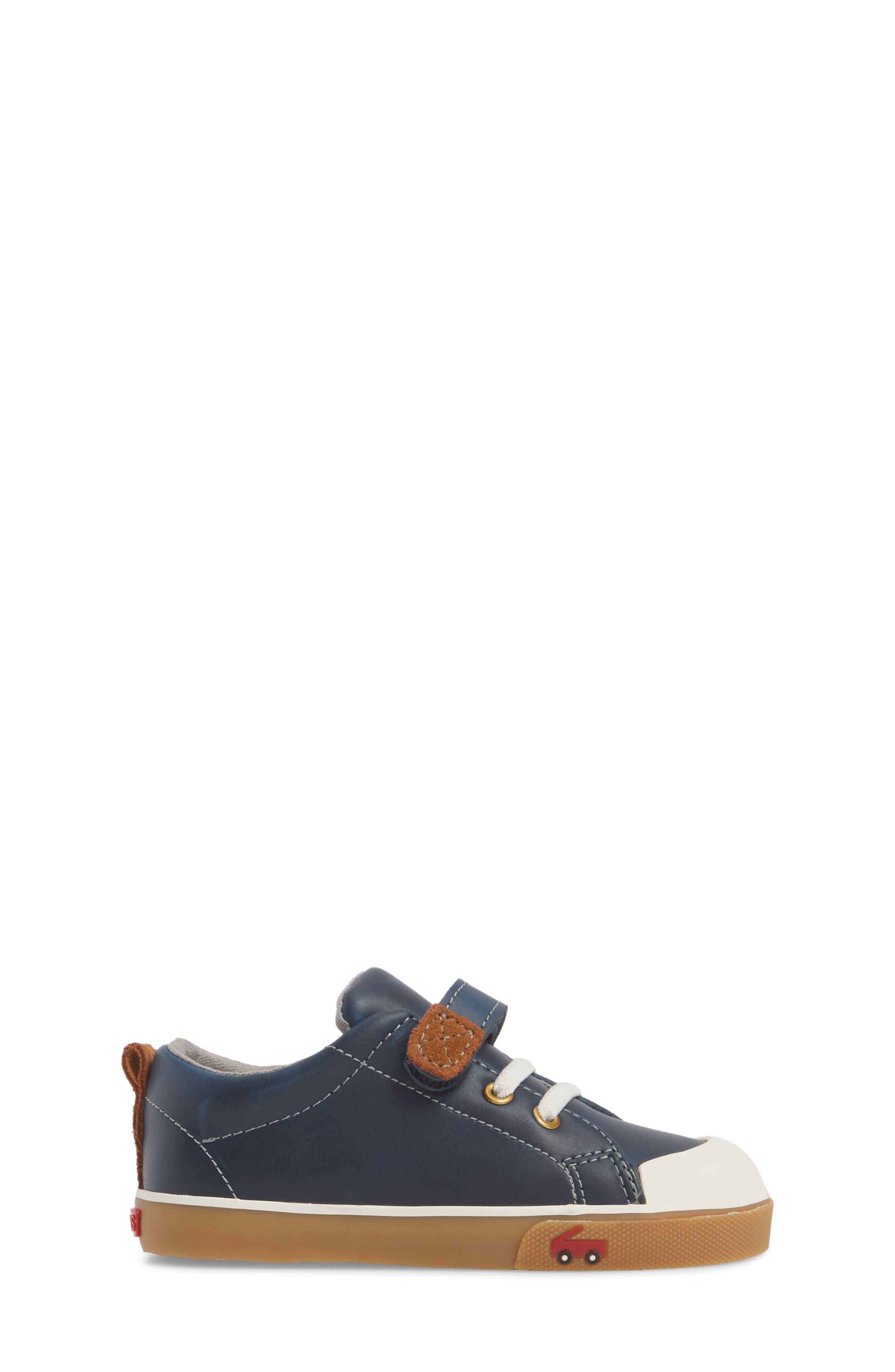 Stevie II Sneaker,                             Alternate thumbnail 3, color,                             NAVY LEATHER