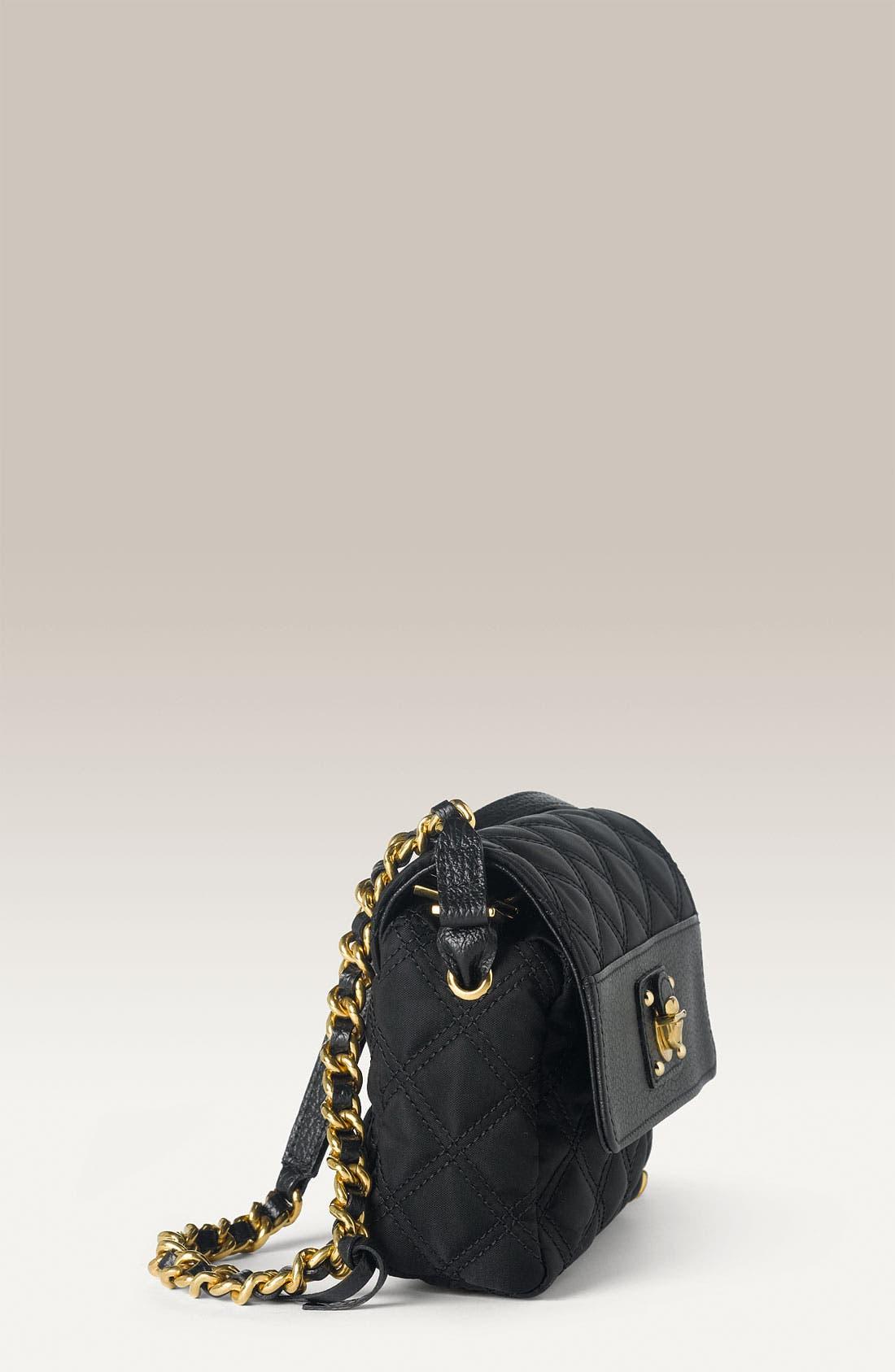 'Debbie' Quilted Nylon Crossbody Bag,                             Alternate thumbnail 2, color,                             001