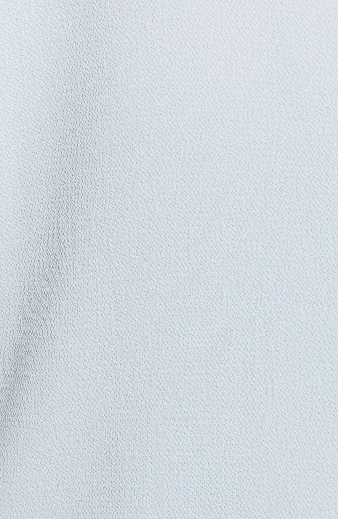 Drawstring Armhole Crepe Blouse,                             Alternate thumbnail 6, color,                             CHALK BLUE