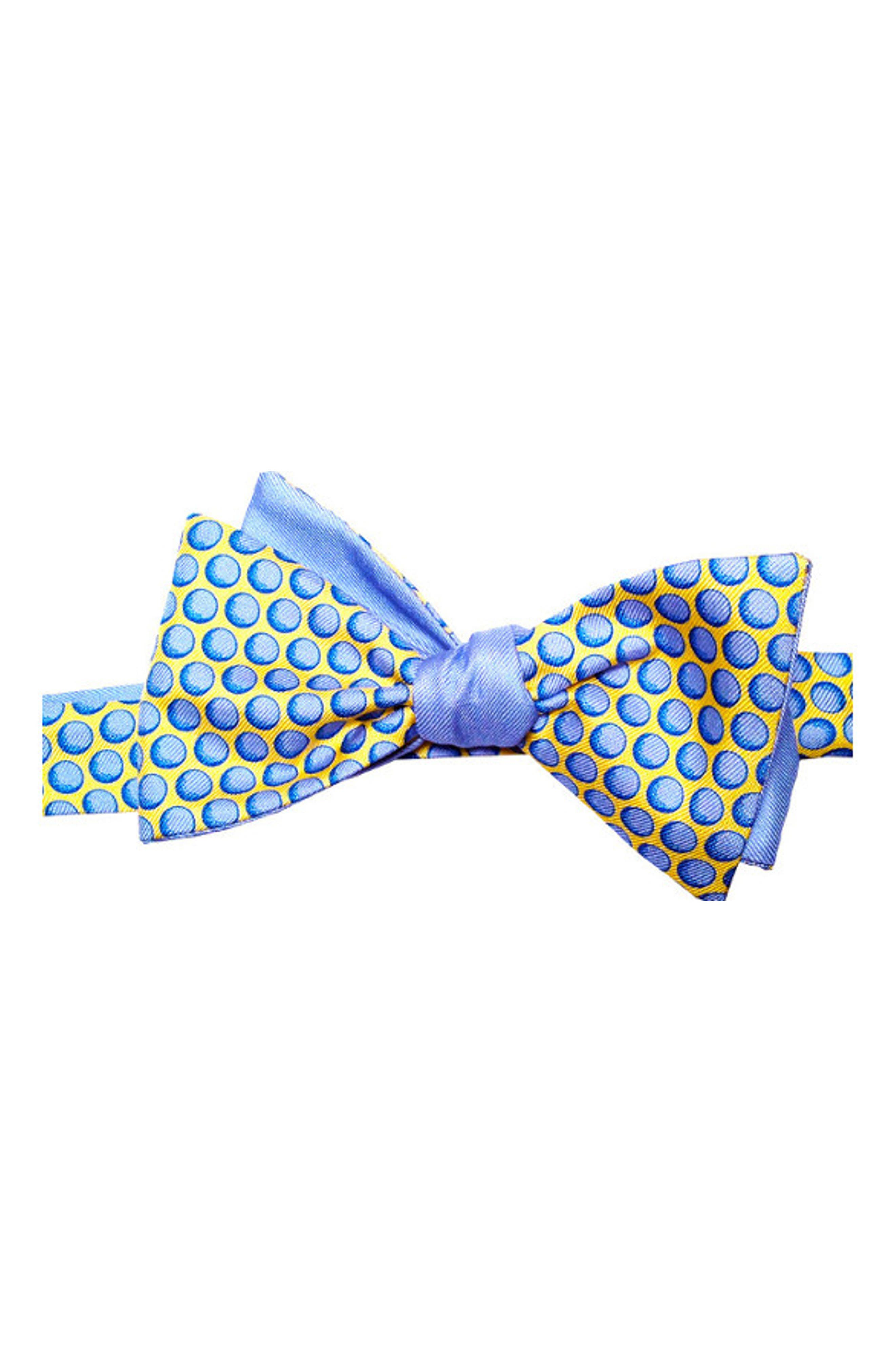 Sphere Silk Bow Tie,                         Main,                         color, BLUE