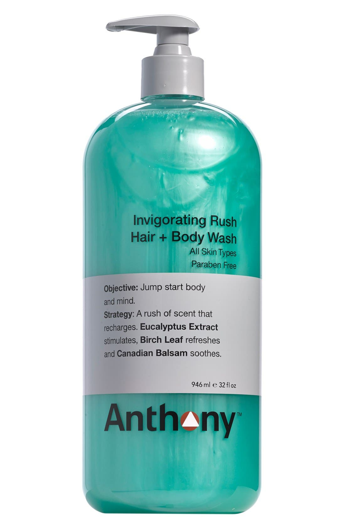 Jumbo Invigorating Rush Hair & Body Wash,                             Main thumbnail 1, color,                             NO COLOR