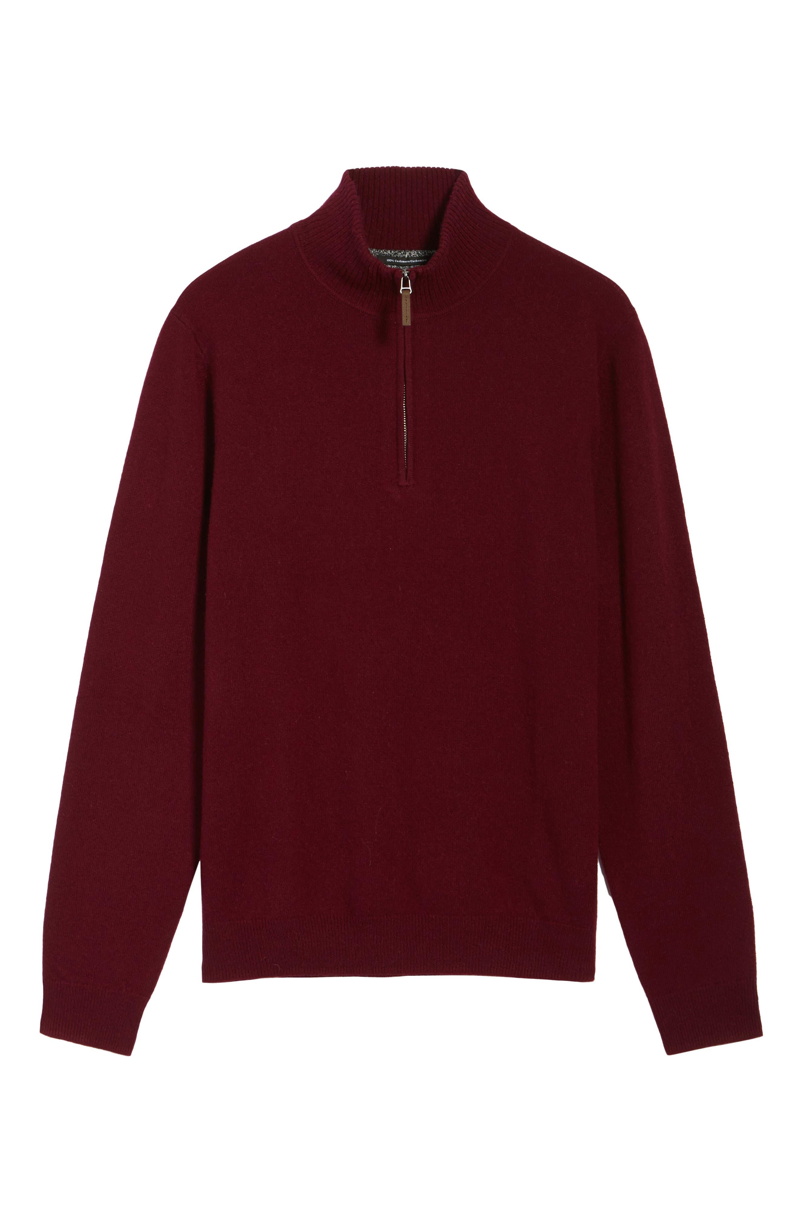 Cashmere Quarter Zip Sweater,                             Alternate thumbnail 43, color,