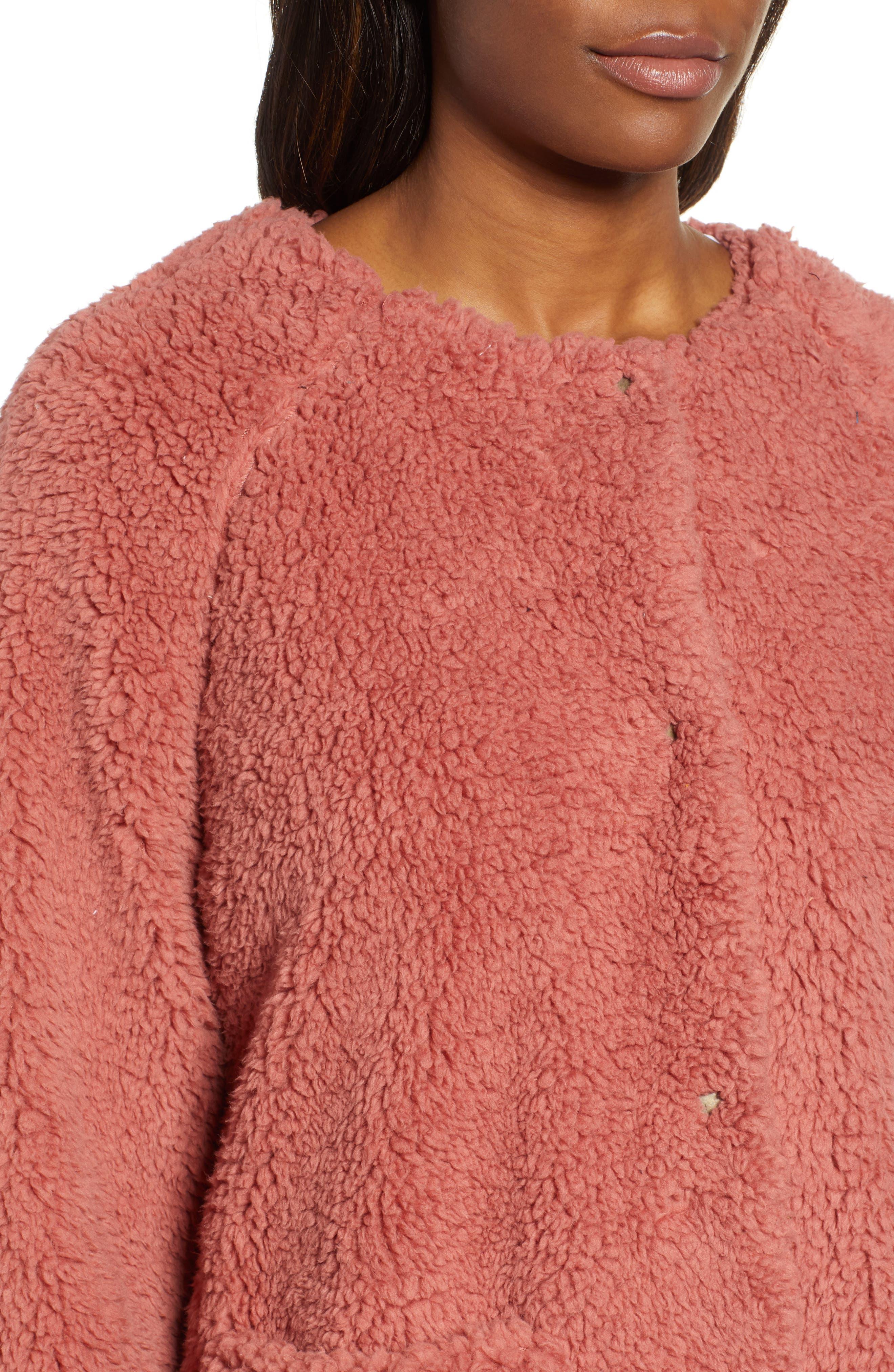 Fuzzy Fleece Jacket,                             Alternate thumbnail 4, color,                             650