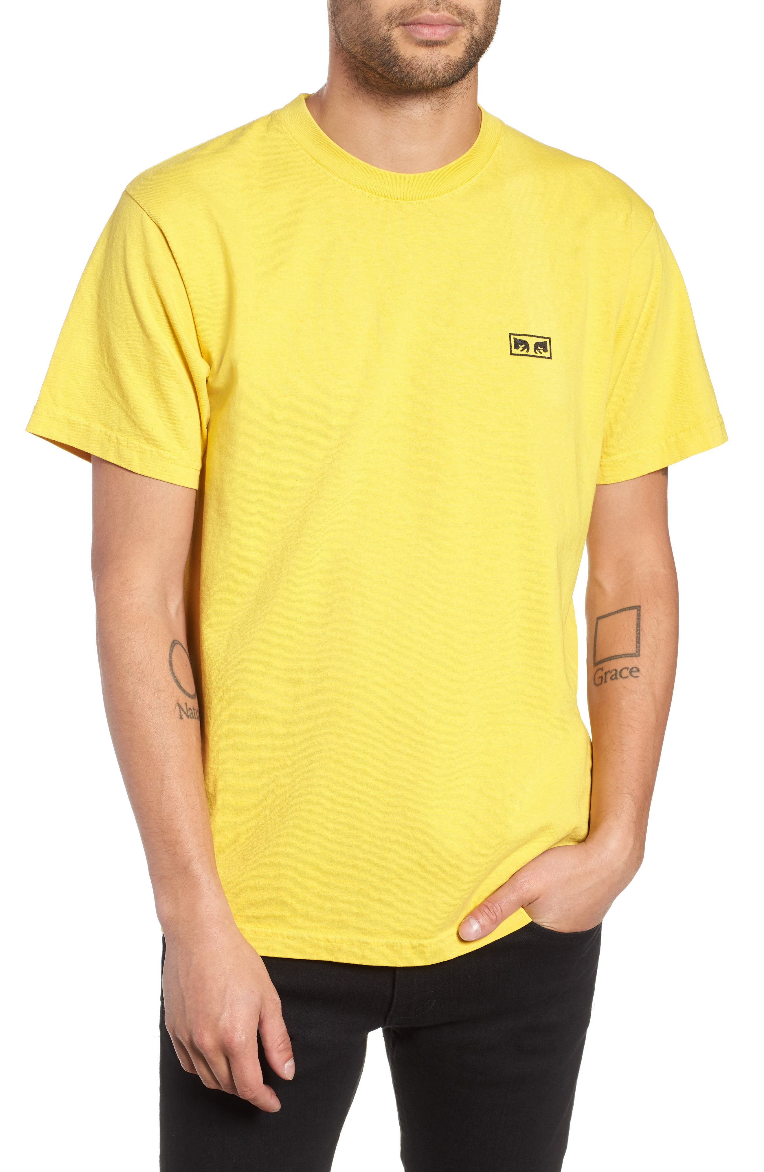 No One Box T-Shirt,                         Main,                         color, SPECTRA YELLOW