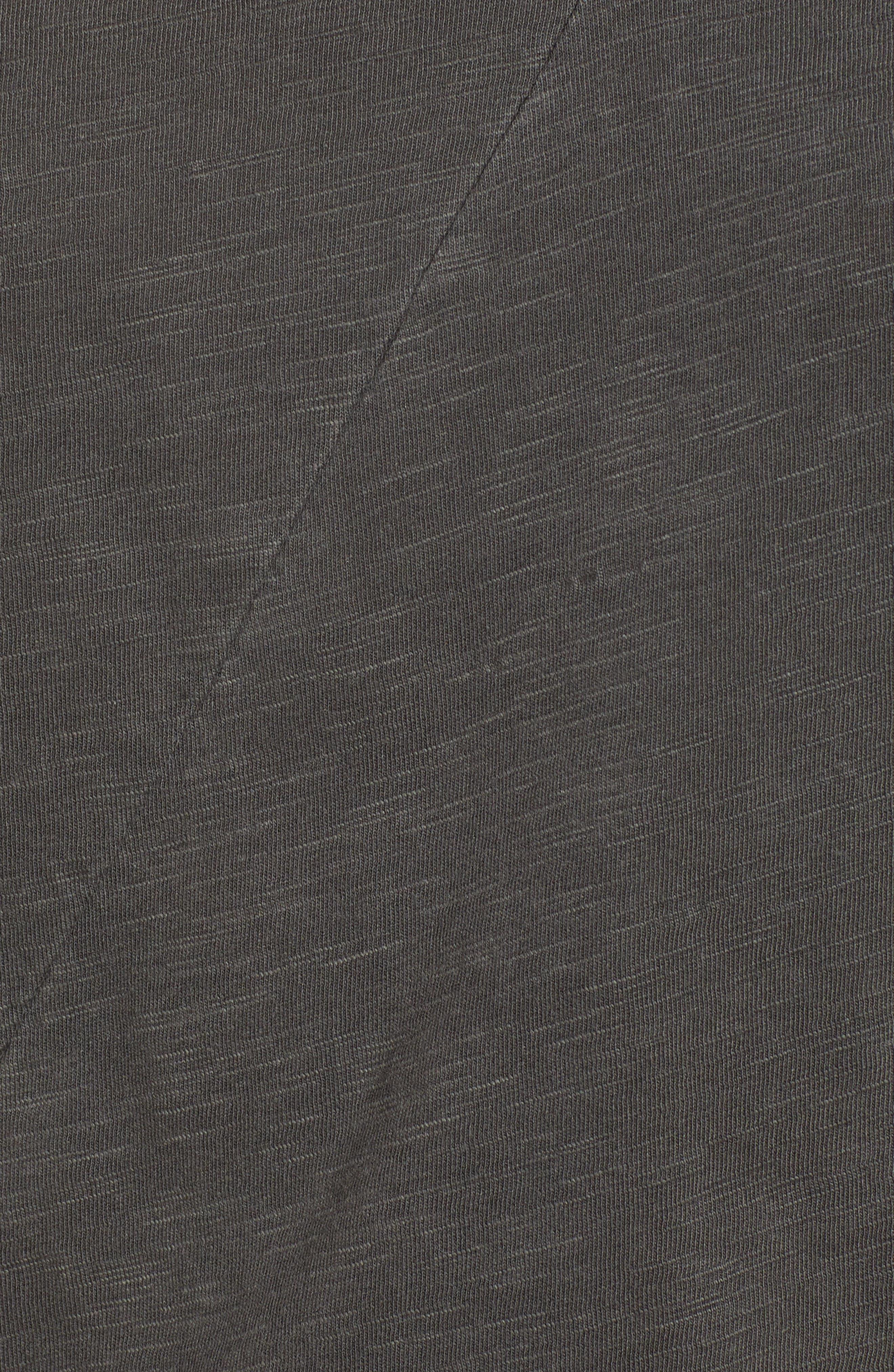 Lace-Up Shoulder Cotton Tee,                             Alternate thumbnail 6, color,                             001