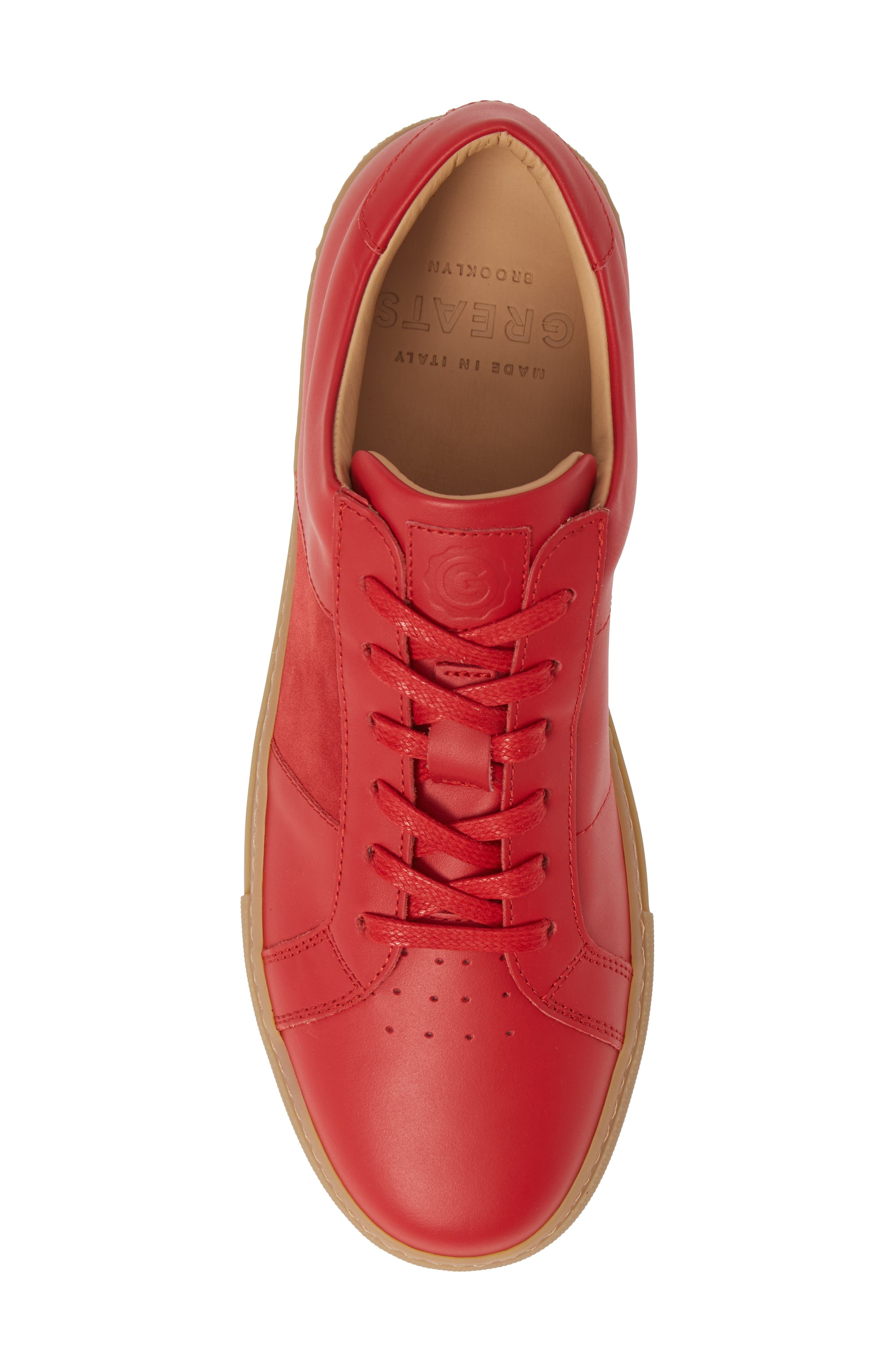 Royale Sneaker,                             Alternate thumbnail 5, color,                             RED/ GUM LEATHER
