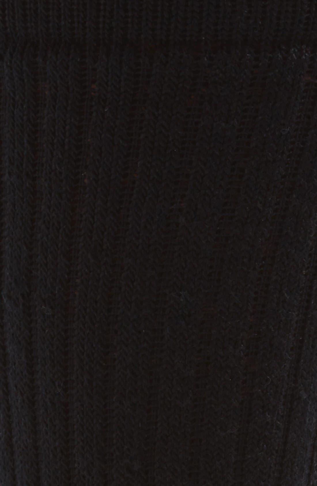 'Ten Mile Hiker' Merino Wool Blend Crew Socks,                             Alternate thumbnail 2, color,                             001