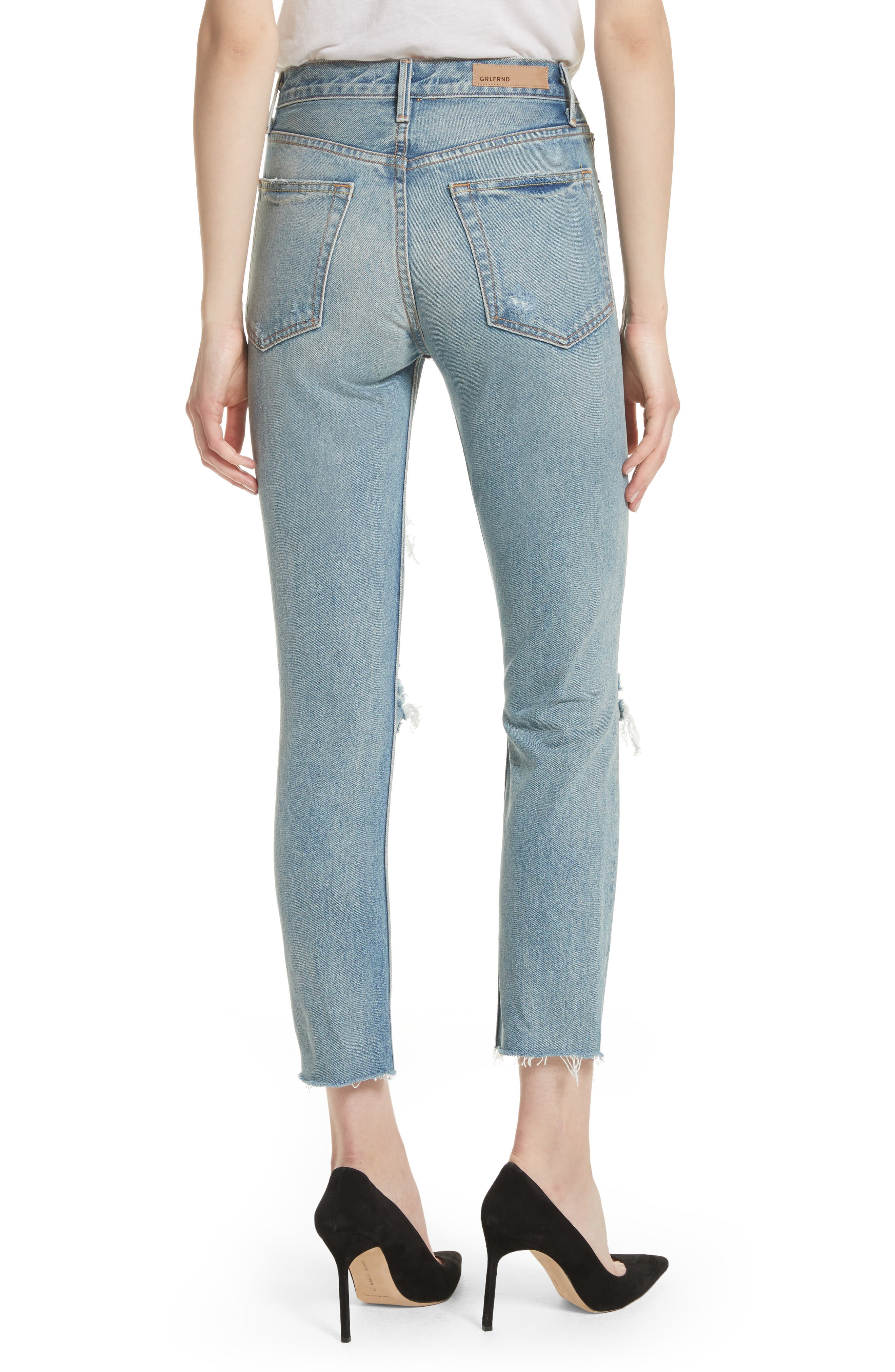 Karolina Rigid High Waist Skinny Jeans,                             Alternate thumbnail 2, color,                             A LITTLE MORE LOVE