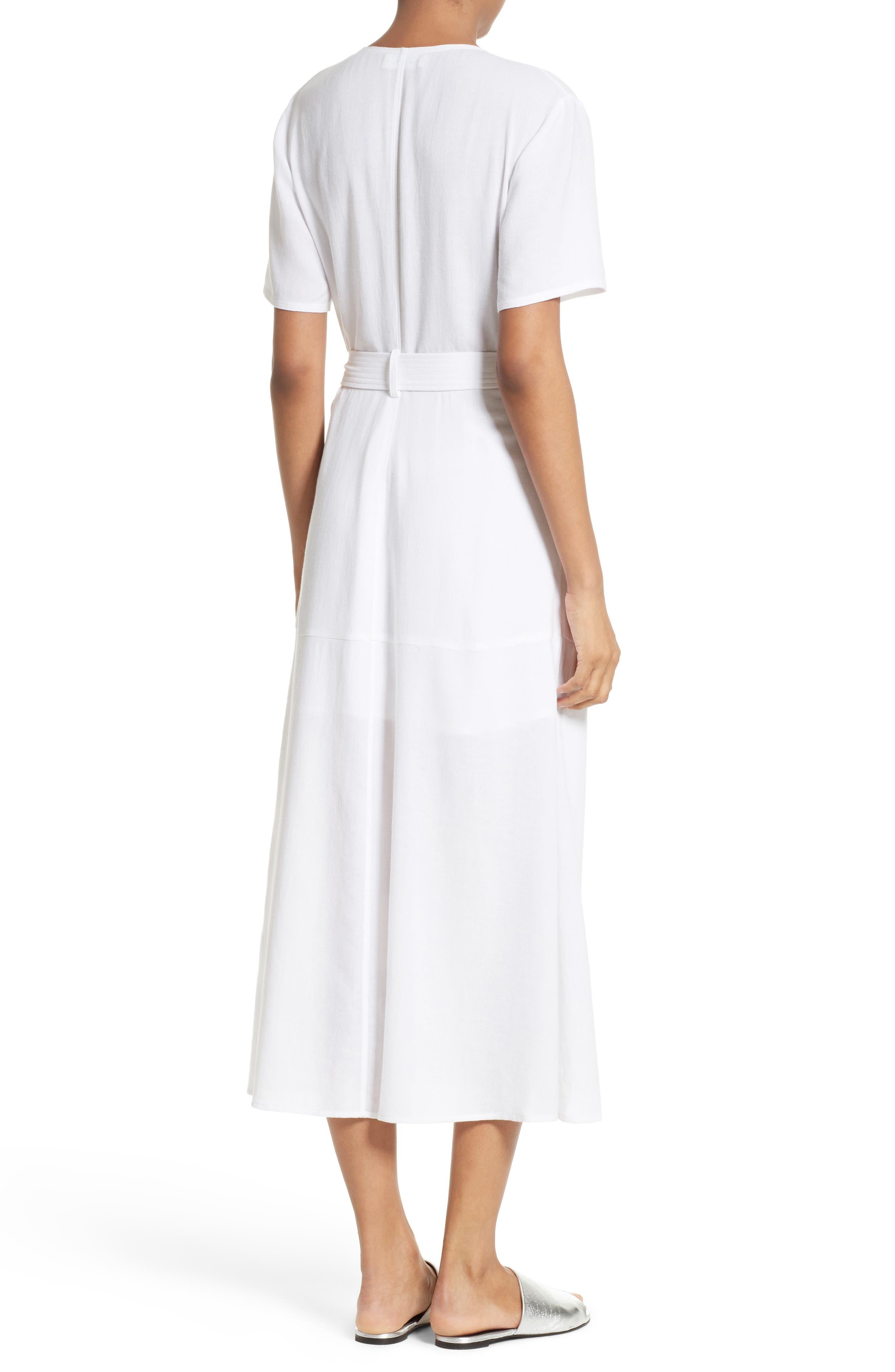 A.L.C.,                             Asa Midi Wrap Dress,                             Alternate thumbnail 2, color,                             100