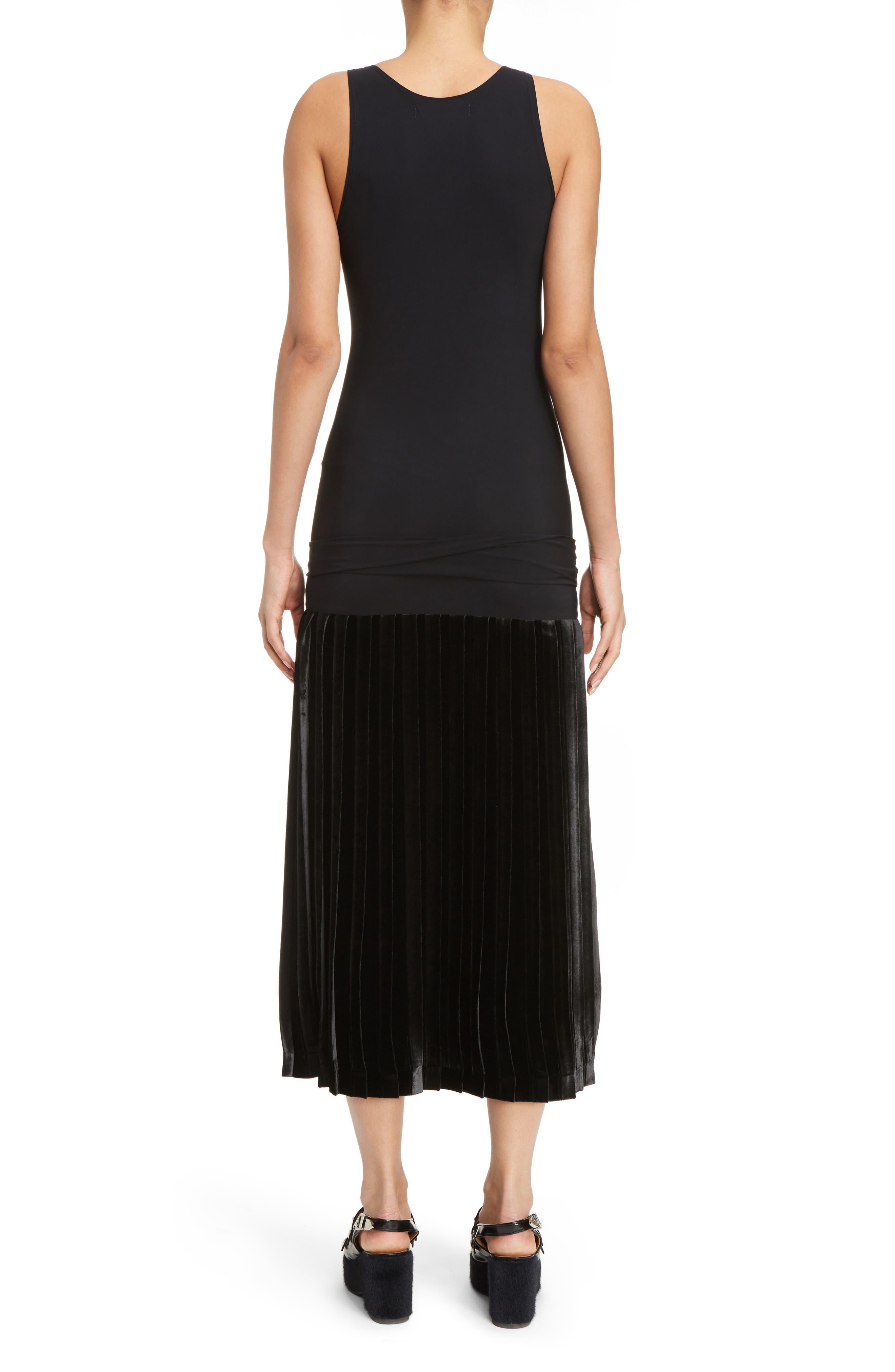 Velvet Skirt Tank Dress,                             Alternate thumbnail 2, color,                             001