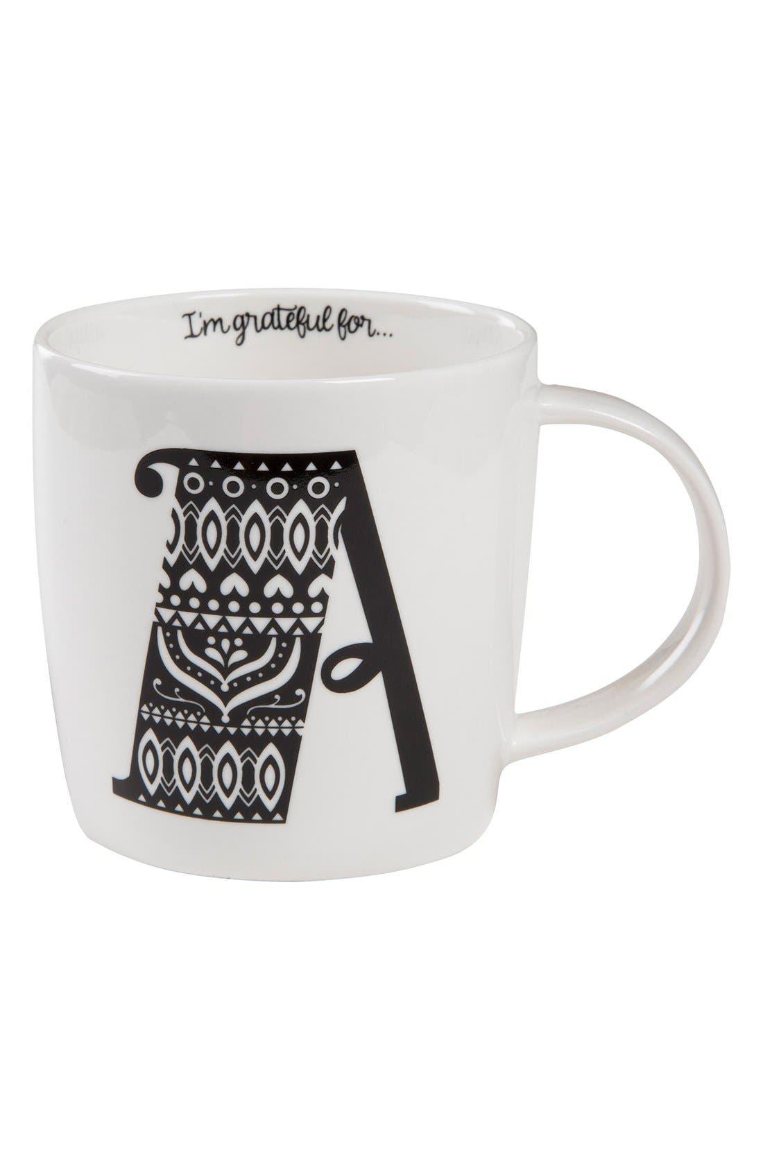 Initial Ceramic Mug,                             Main thumbnail 1, color,                             100
