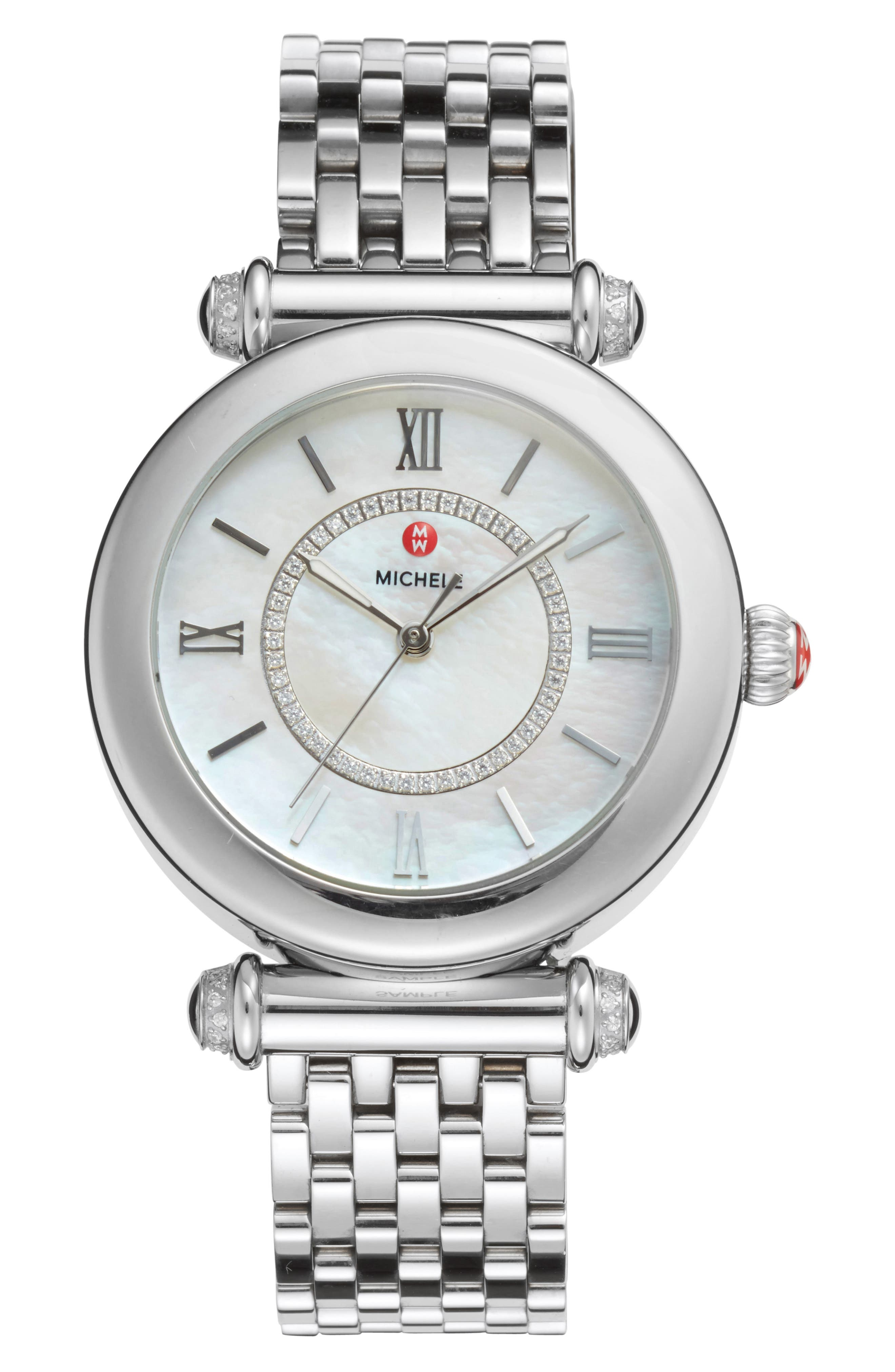 Caber Diamond Bracelet Watch, 35mm,                             Main thumbnail 1, color,                             041