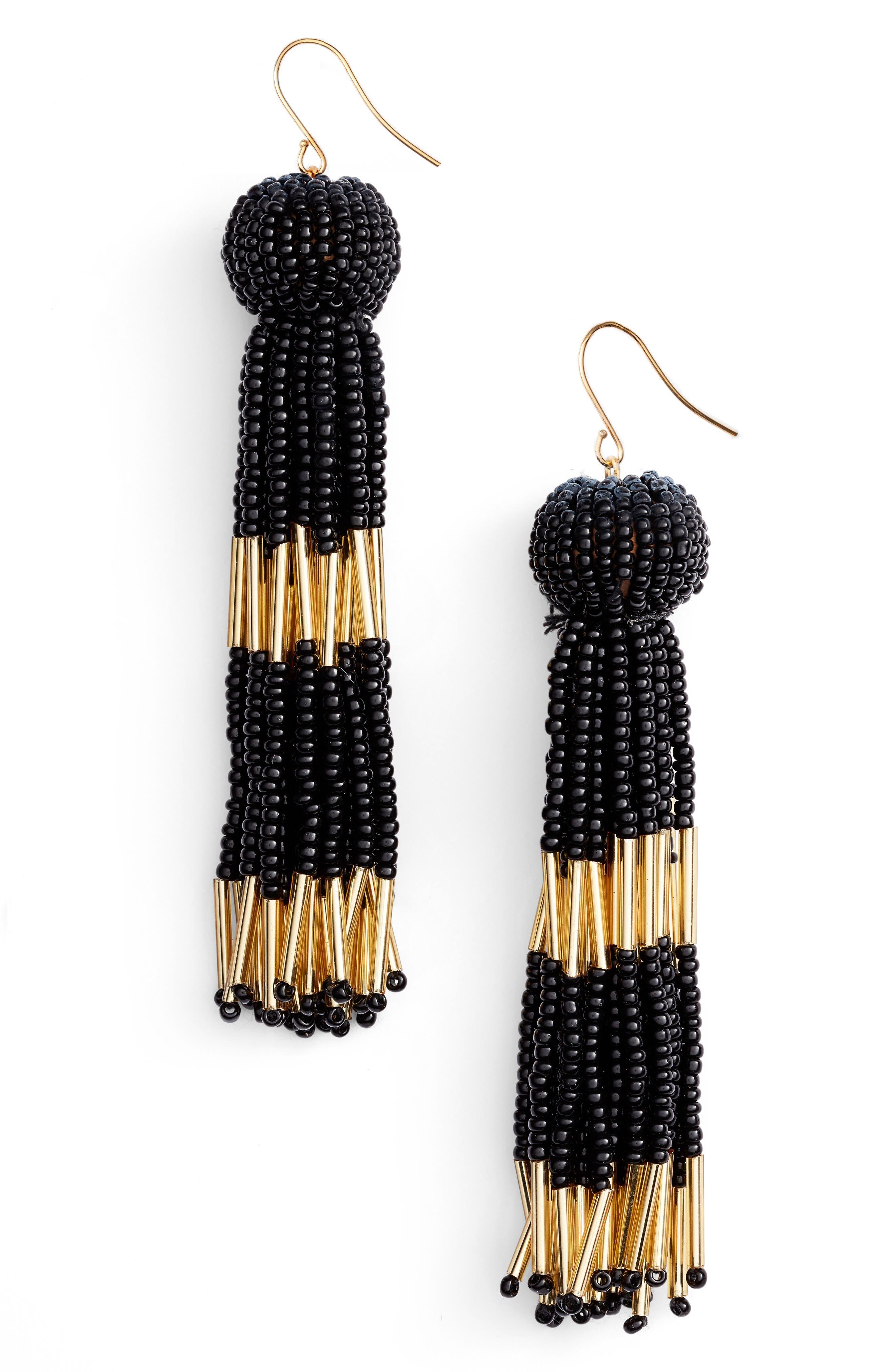VANESSA MOONEY Damzel Tassel Drop Earrings, Main, color, 001