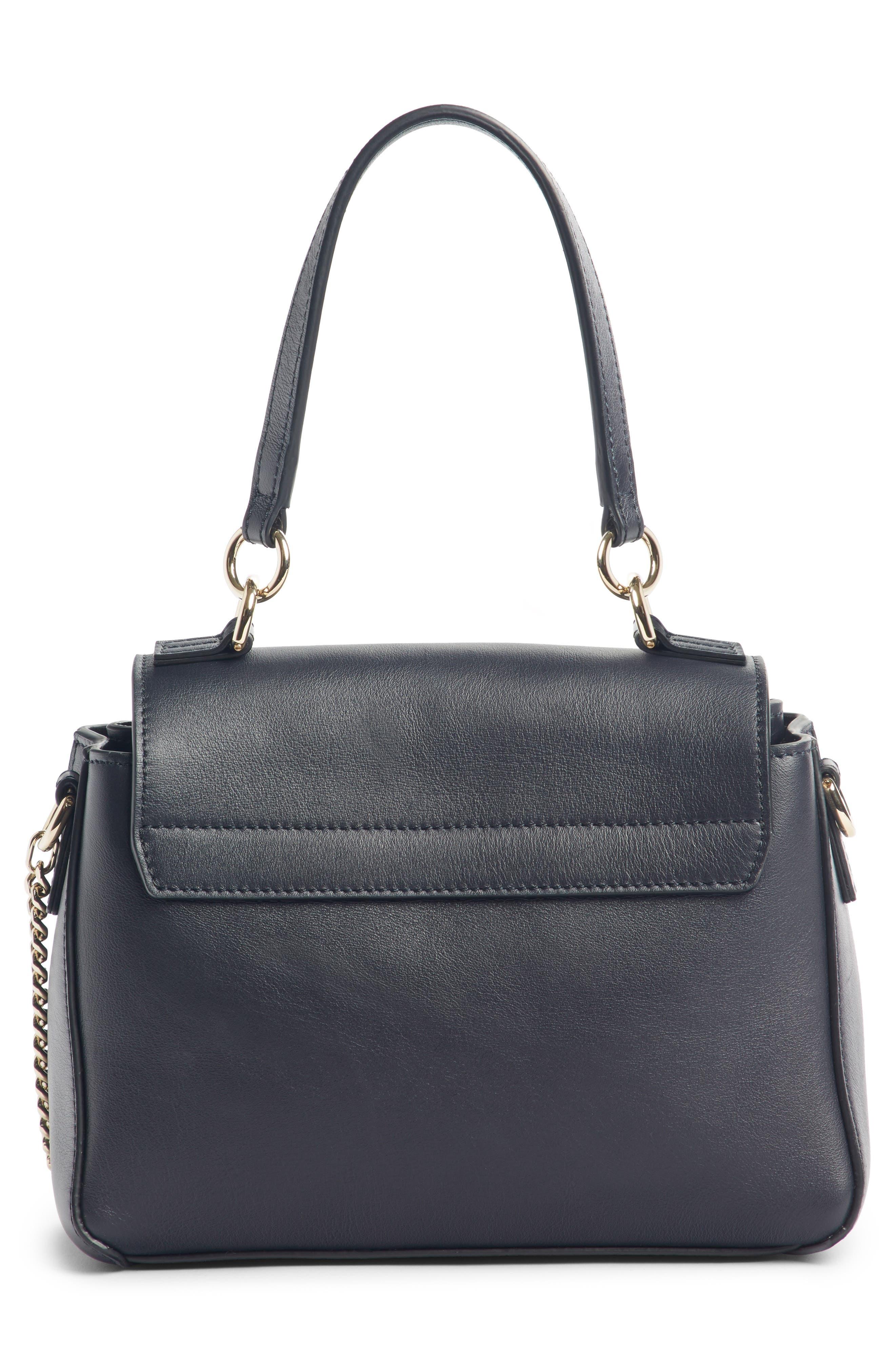 Mini Faye Day Leather Satchel,                             Alternate thumbnail 4, color,                             FULL BLUE