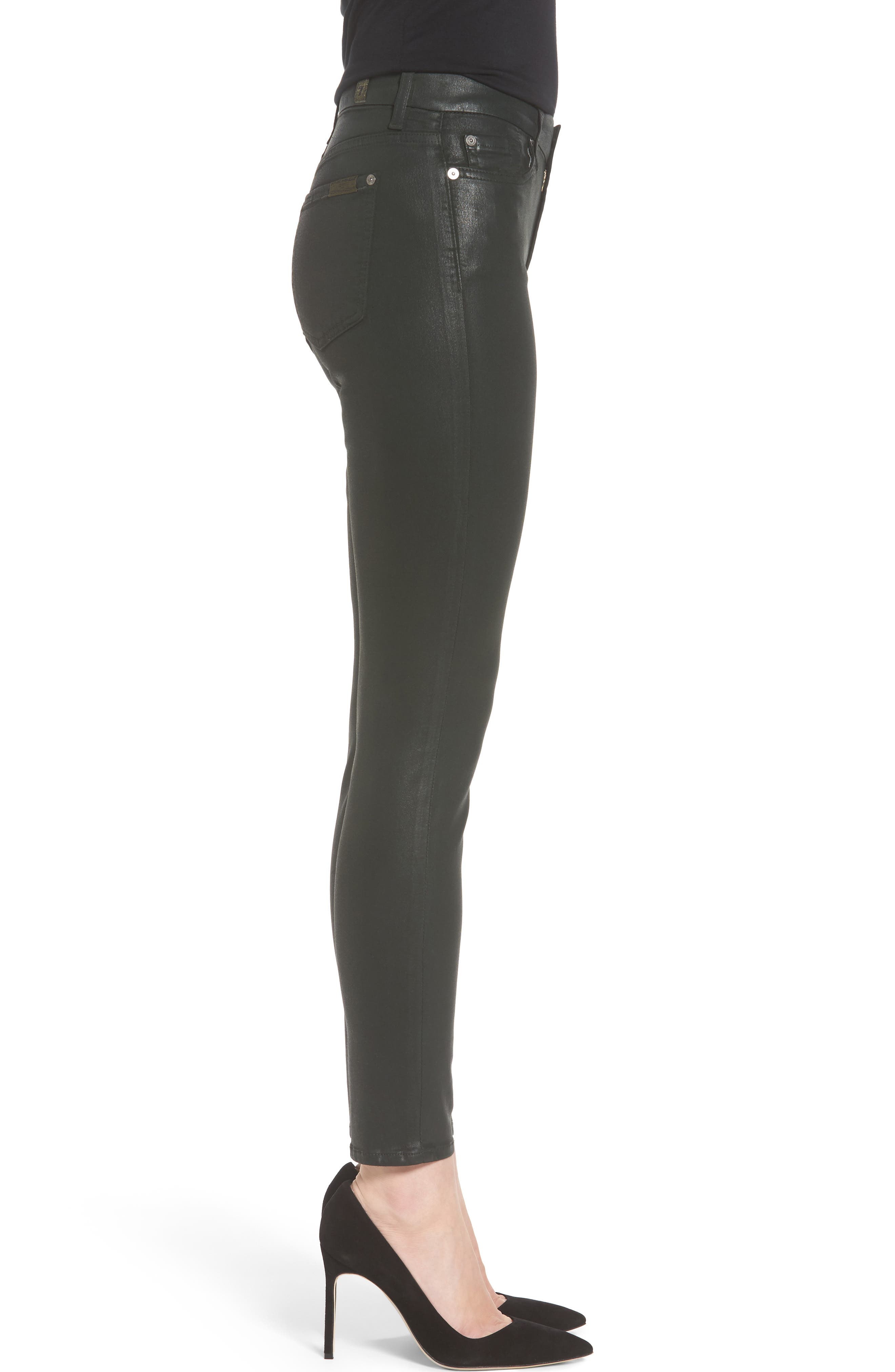 Coated Ankle Skinny Jeans,                             Alternate thumbnail 12, color,