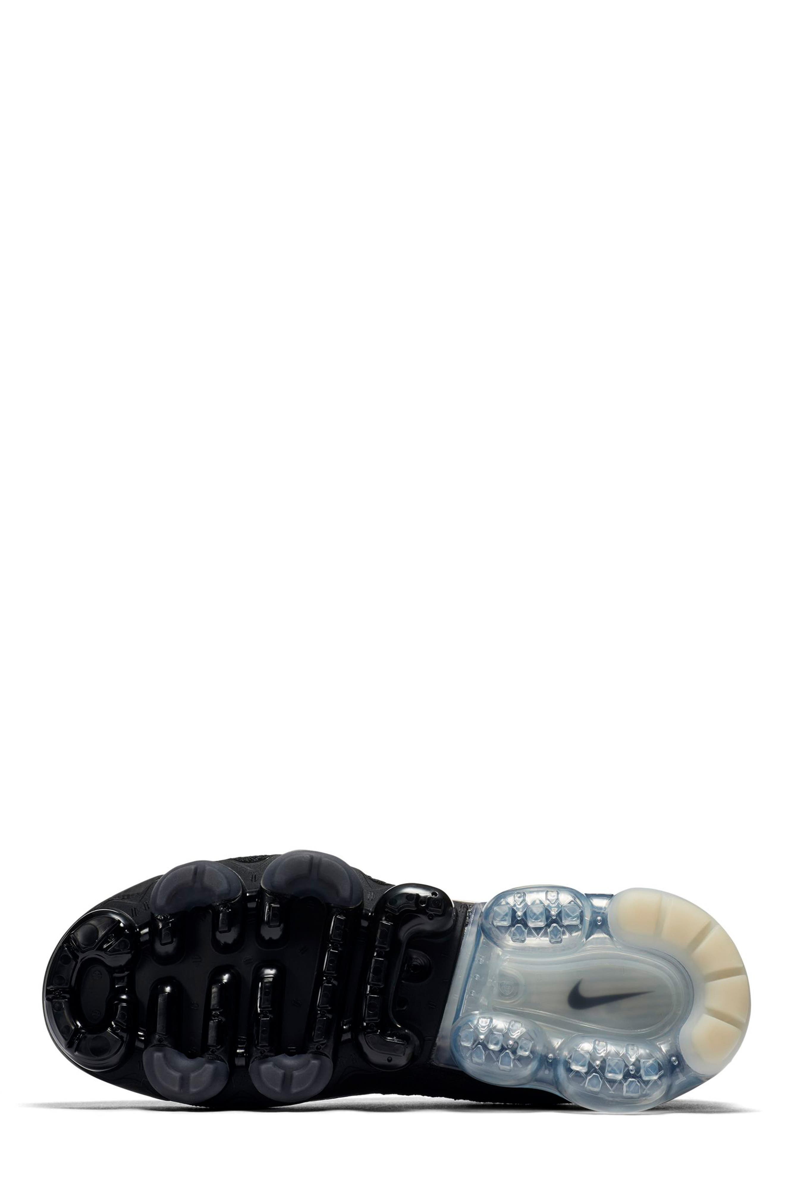 Air VaporMax Flyknit MOC 2 Running Shoe,                             Alternate thumbnail 5, color,                             BLACK