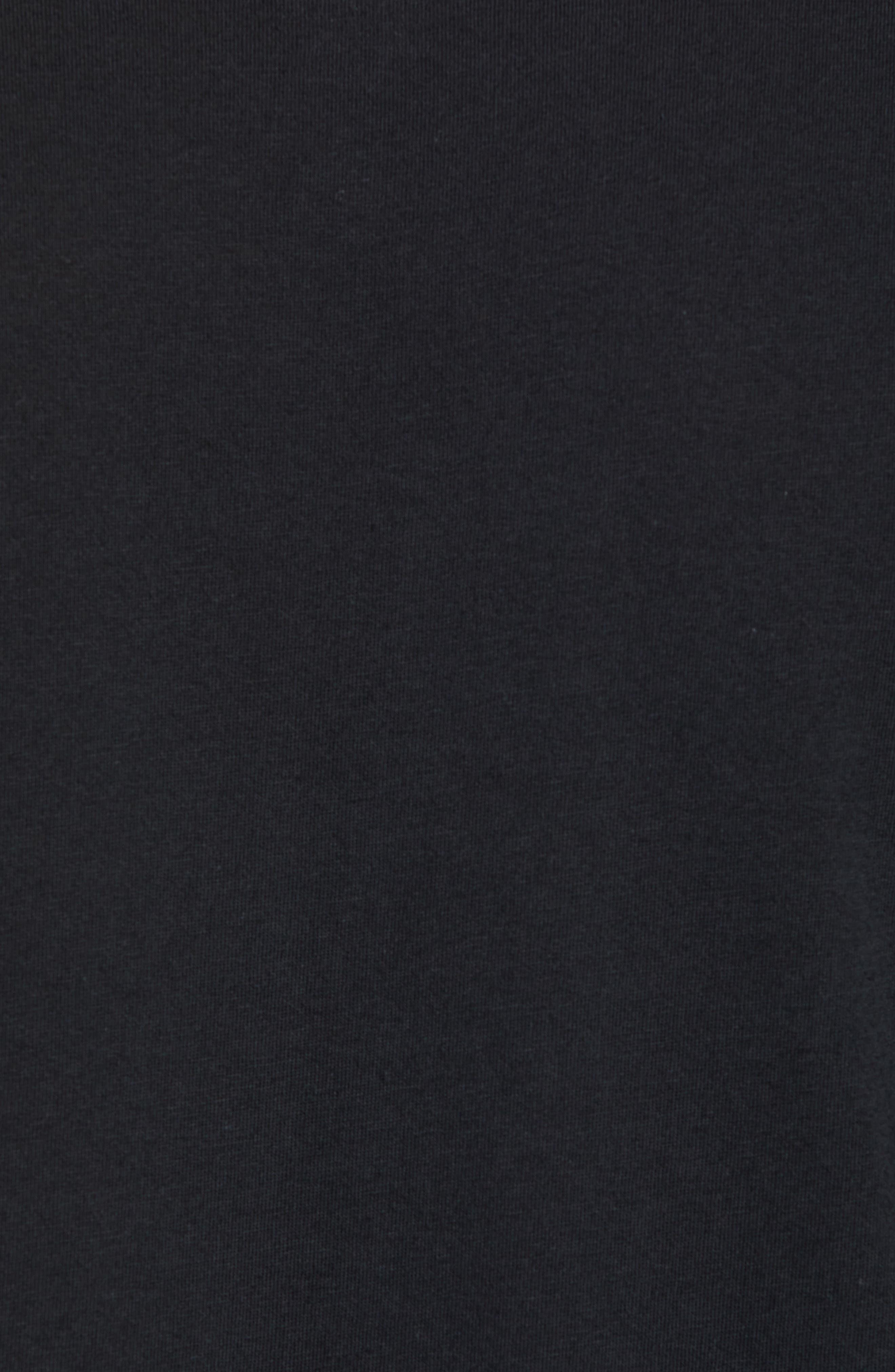 NSW Air 3 Crewneck T-Shirt,                             Alternate thumbnail 5, color,                             BLACK/ WHITE
