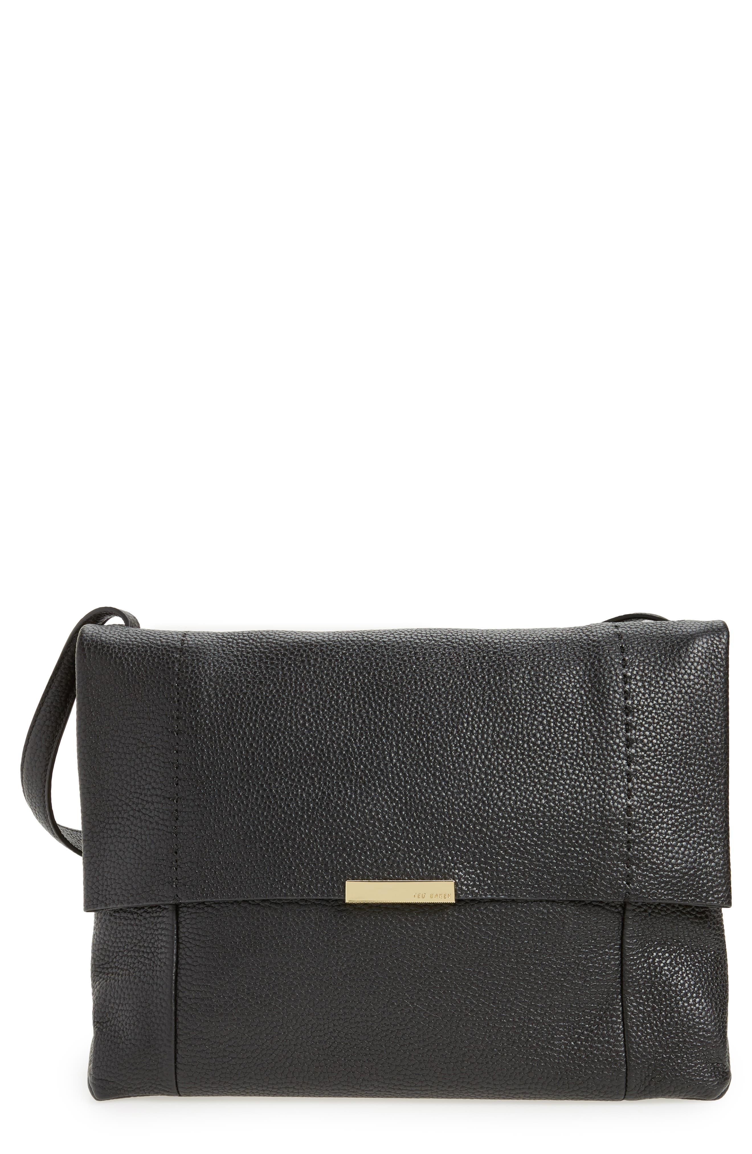 Proter Leather Shoulder Bag,                             Main thumbnail 1, color,                             001