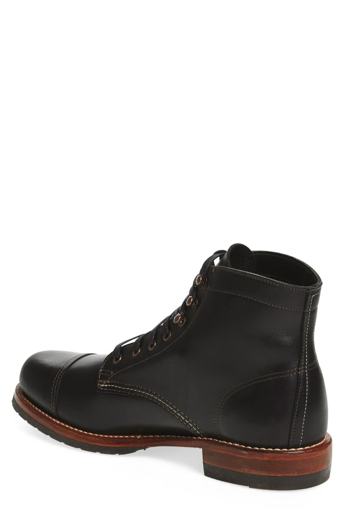 'Adrian' Cap Toe Boot,                             Alternate thumbnail 2, color,                             001