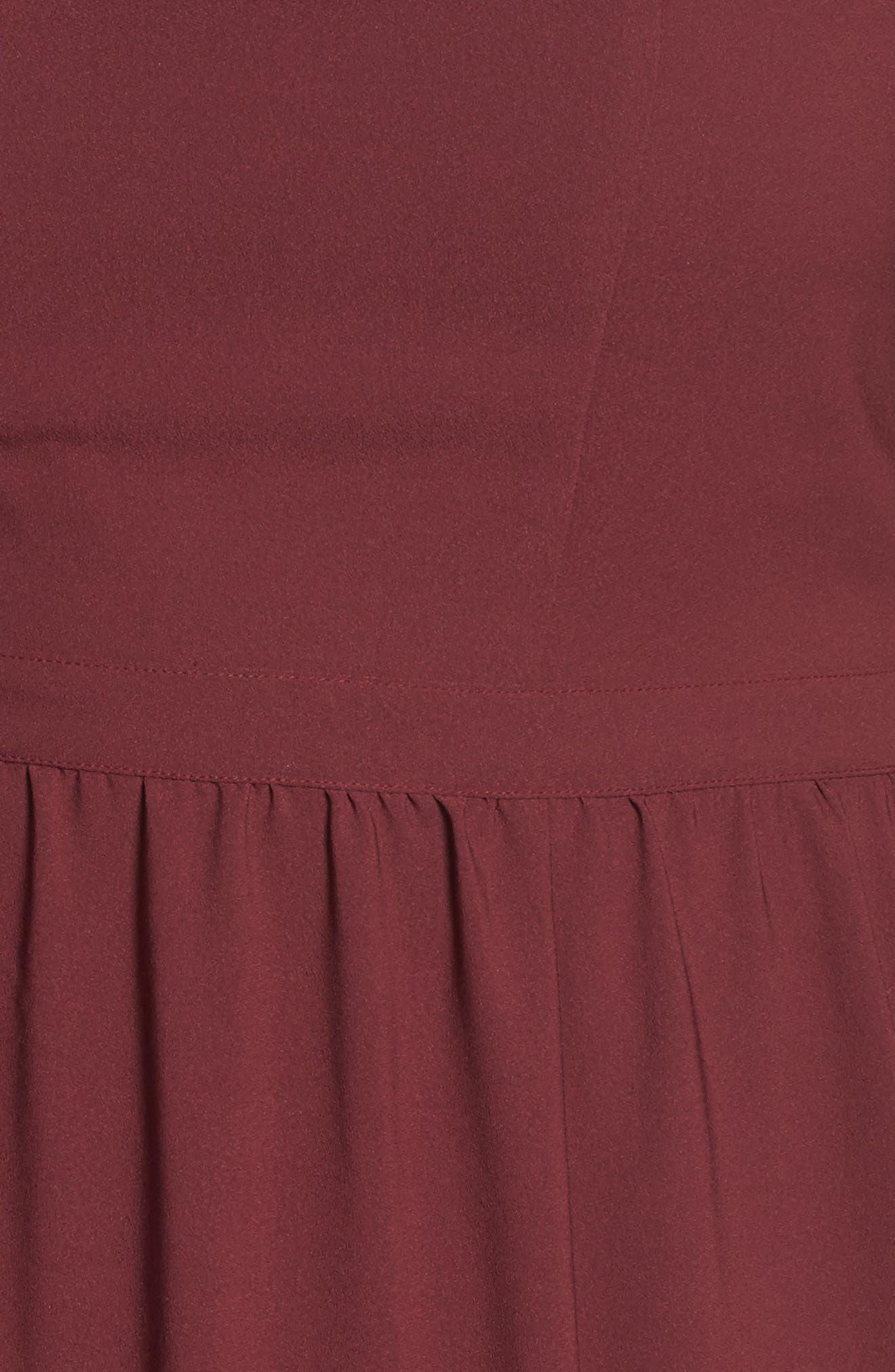 Cold Shoulder Midi Dress,                             Alternate thumbnail 5, color,                             930