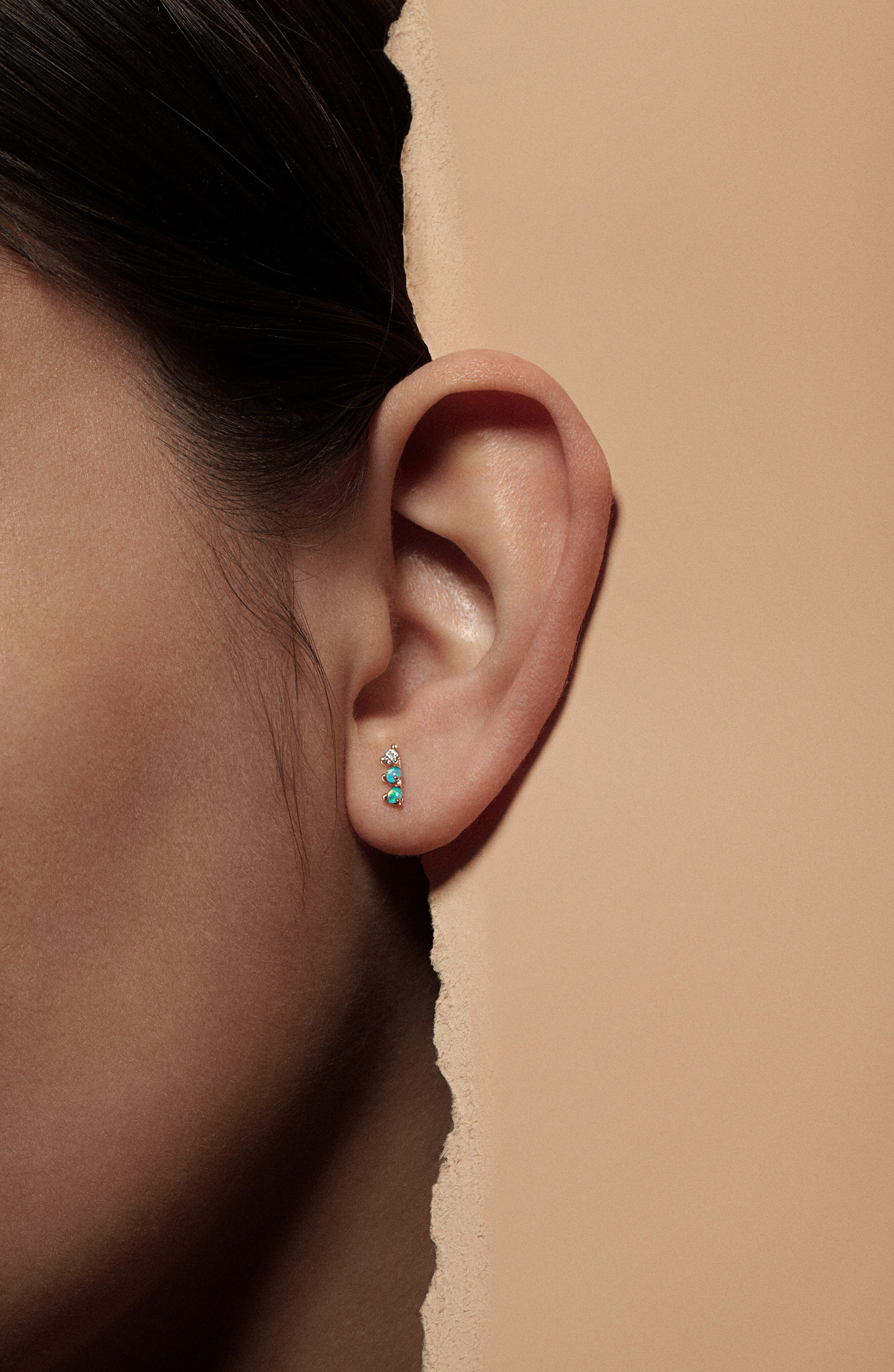 'Counting Collection - Three-Step & Two-Step' Opal Earrings,                             Alternate thumbnail 2, color,