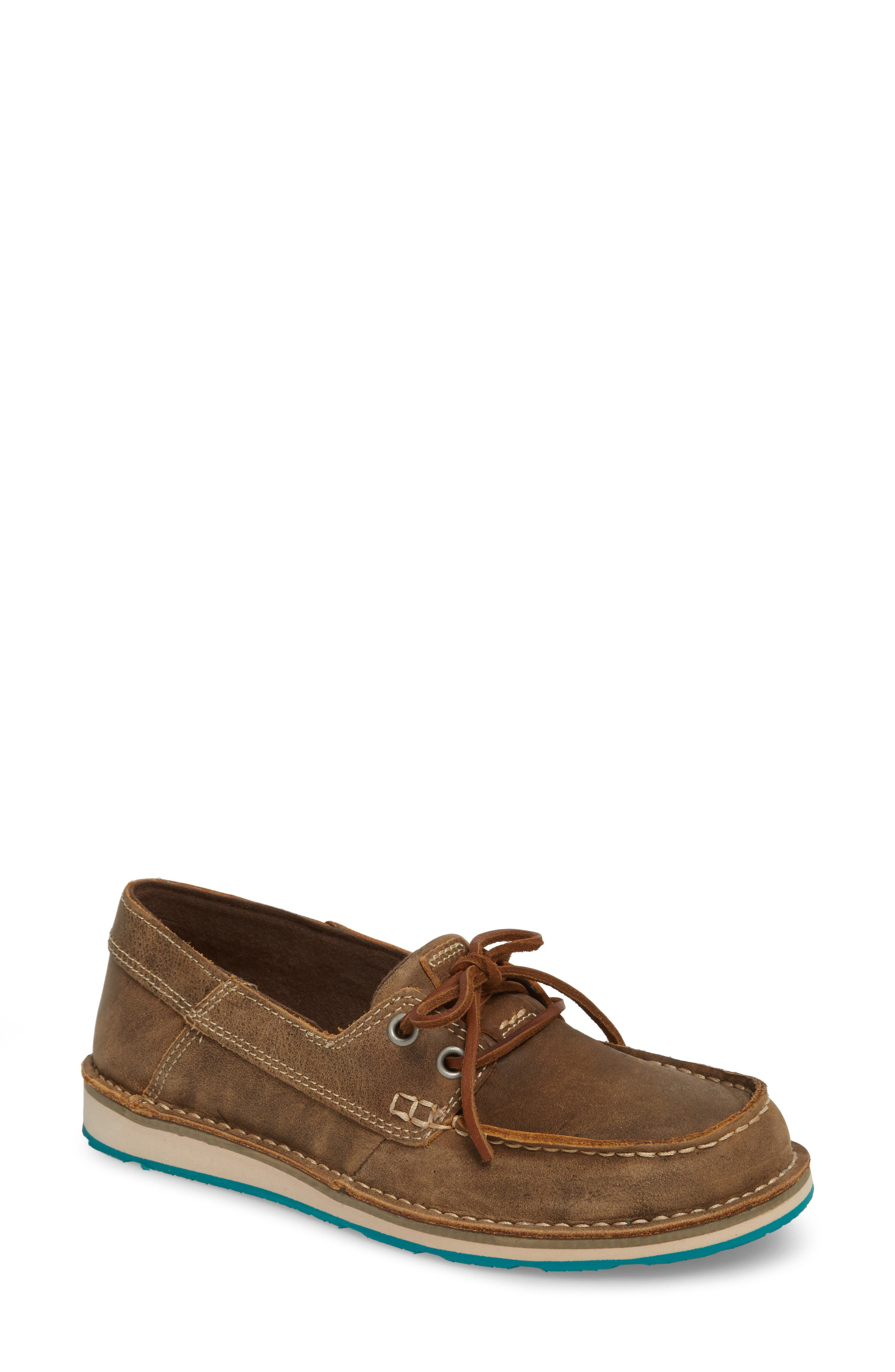 ARIAT Cruiser Castaway Loafer, Main, color, BROWN BOMBER LEATHER
