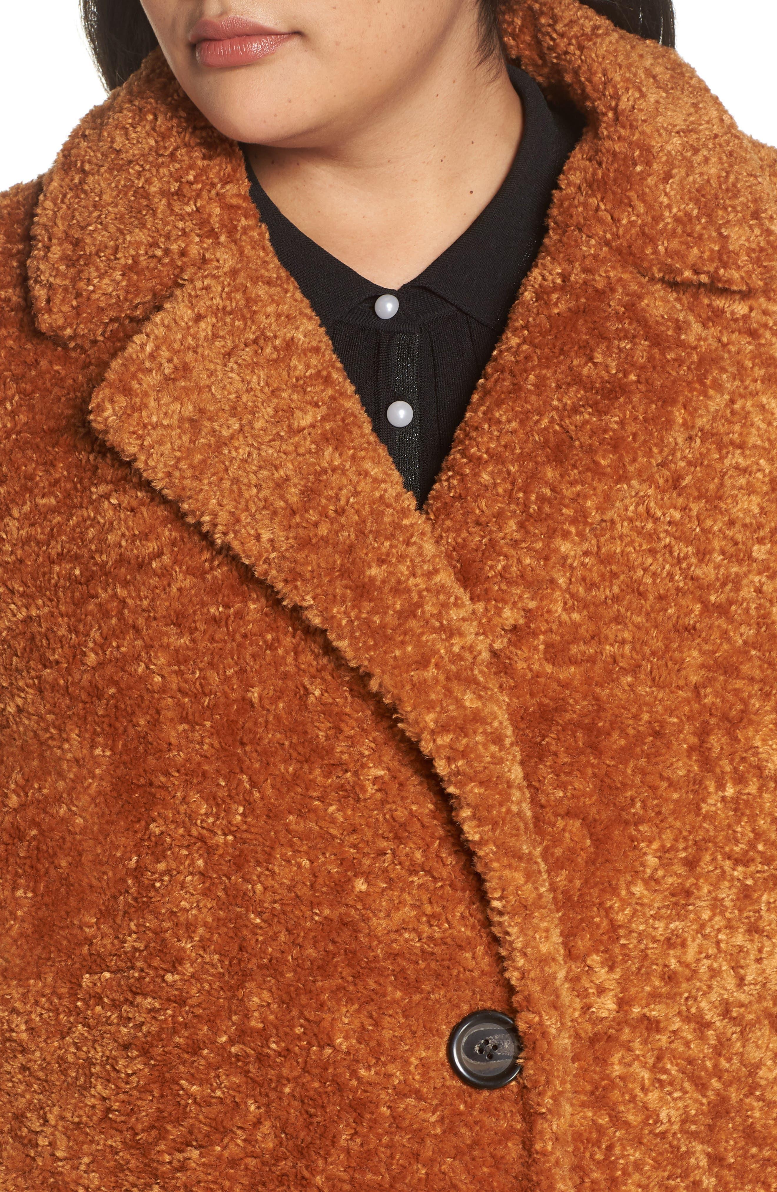 x Atlantic-Pacific Faux Fur Coat,                             Alternate thumbnail 4, color,                             219
