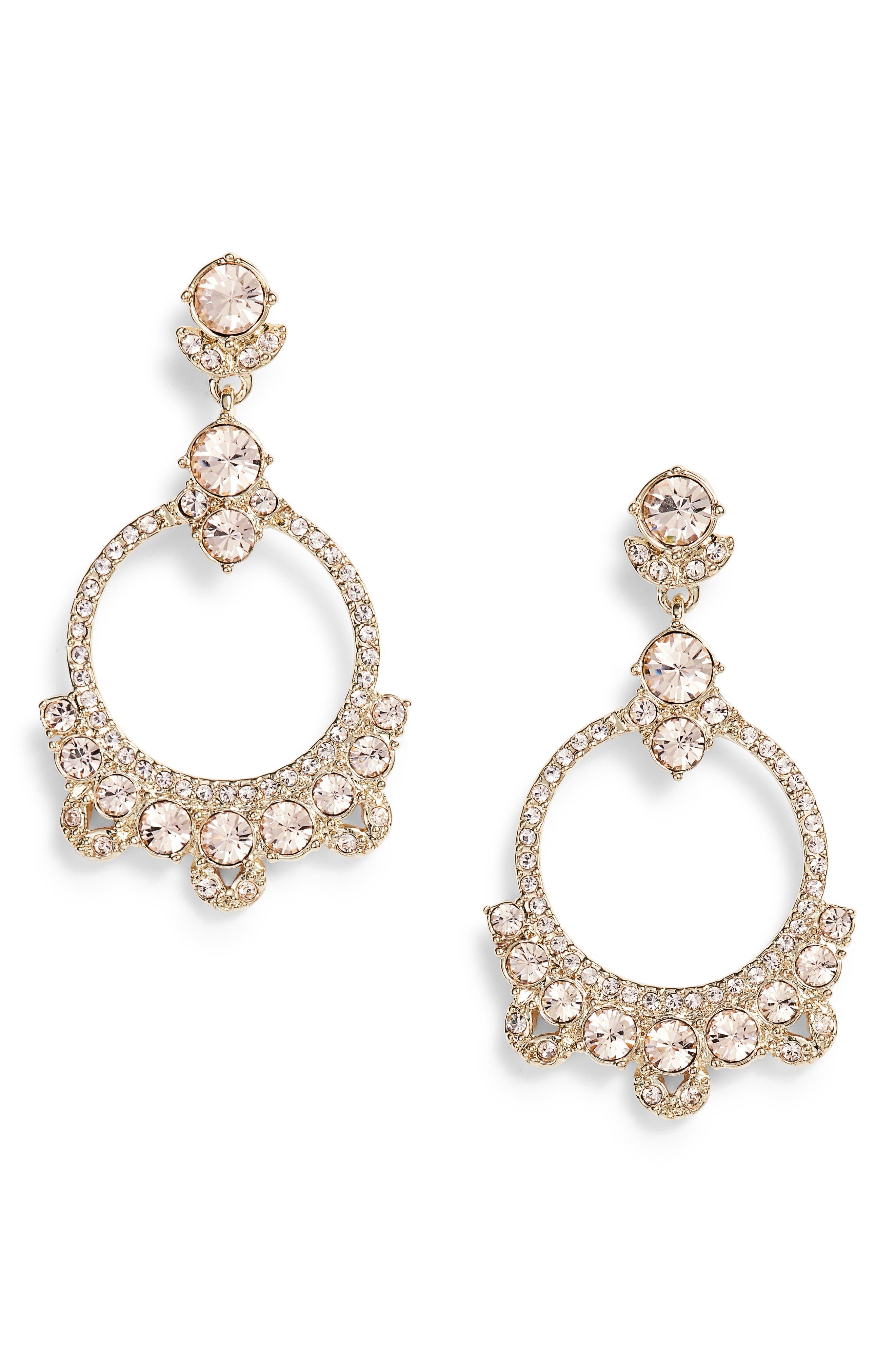 Orbital Drop Earrings,                         Main,                         color, GOLD/ SILK