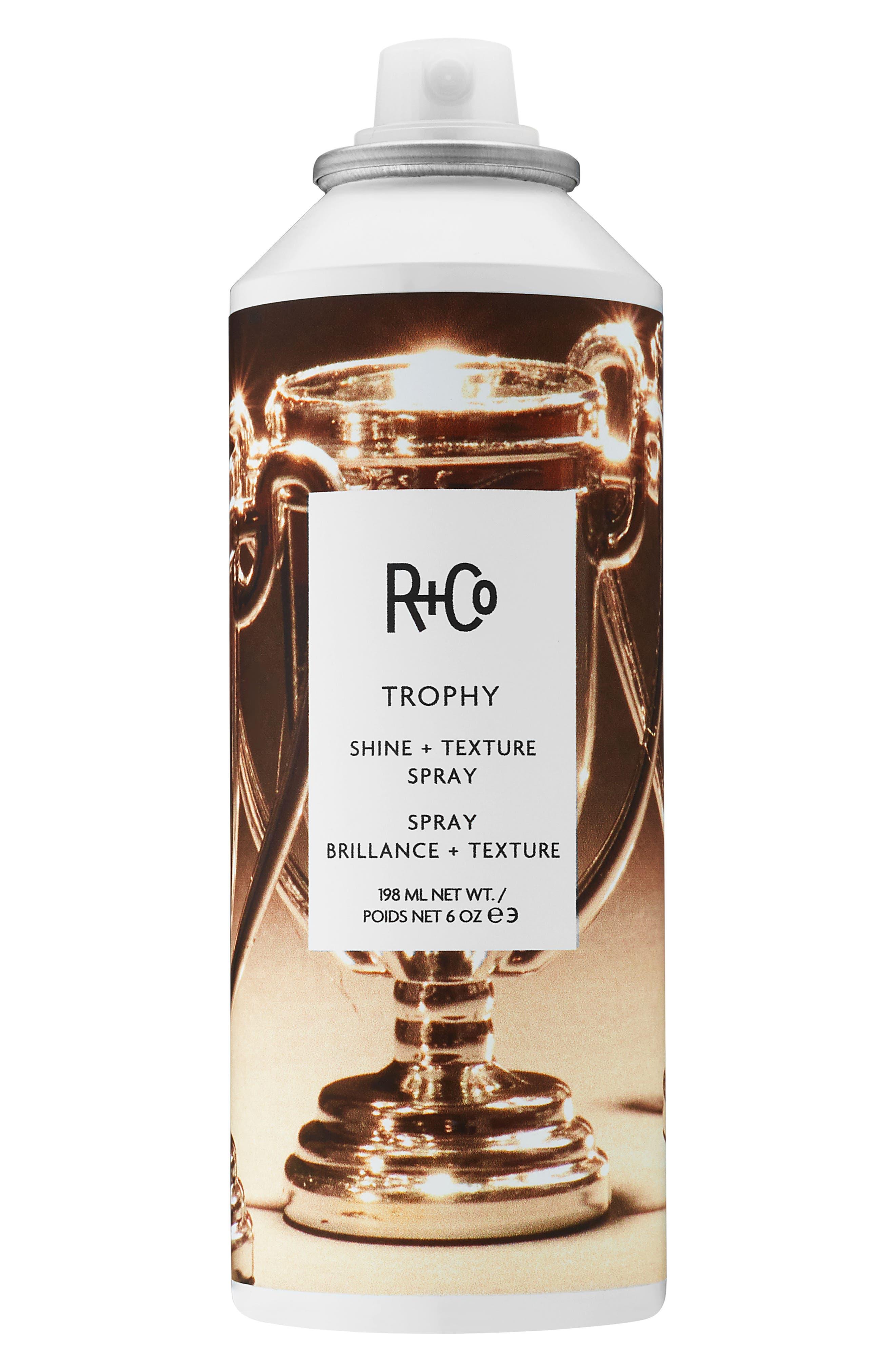 SPACE.NK.apothecary R+Co Trophy Shine Texture Spray,                             Main thumbnail 1, color,                             NO COLOR