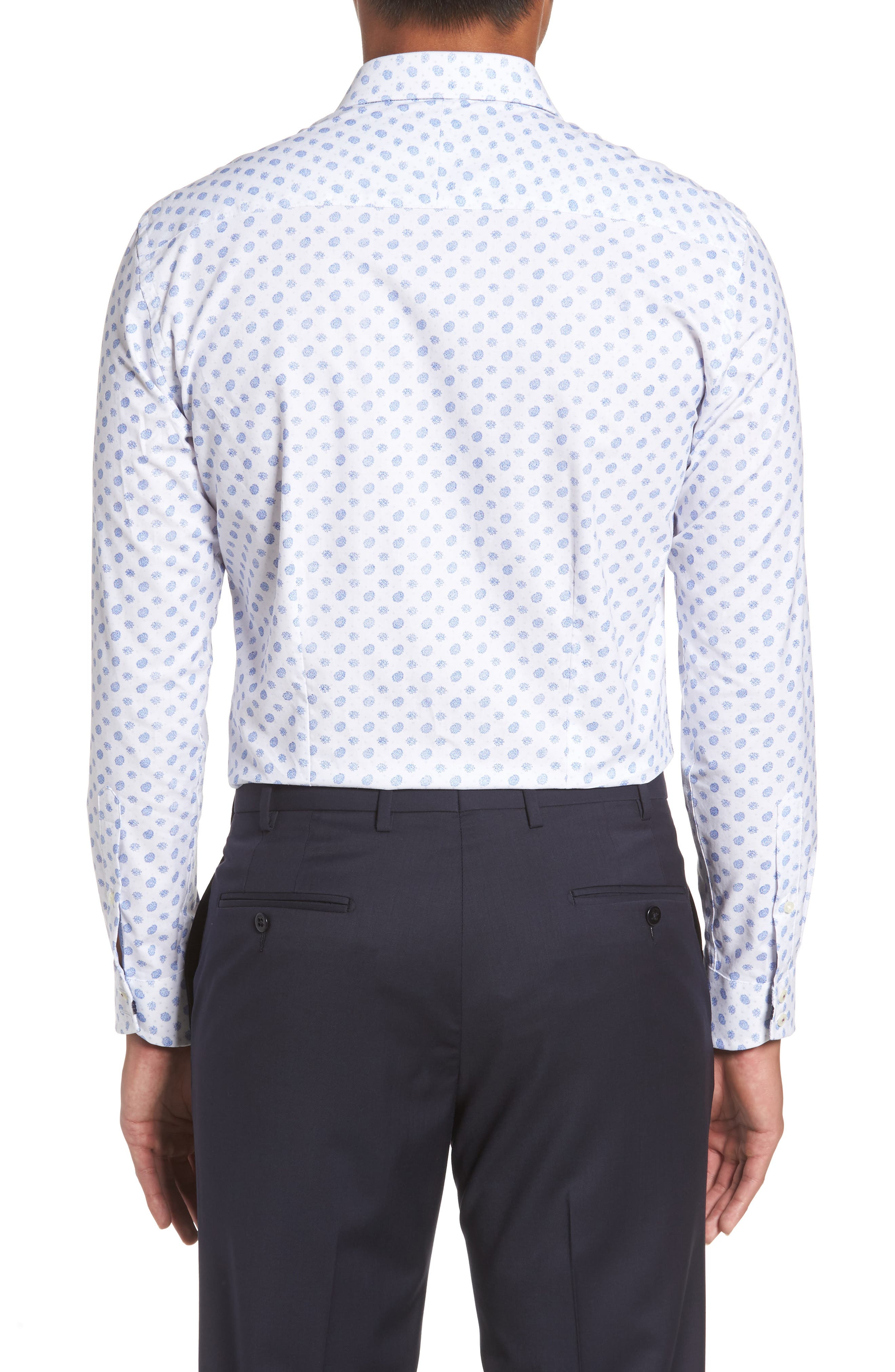 Midra Trim Fit Paisley Dress Shirt,                             Alternate thumbnail 2, color,                             110
