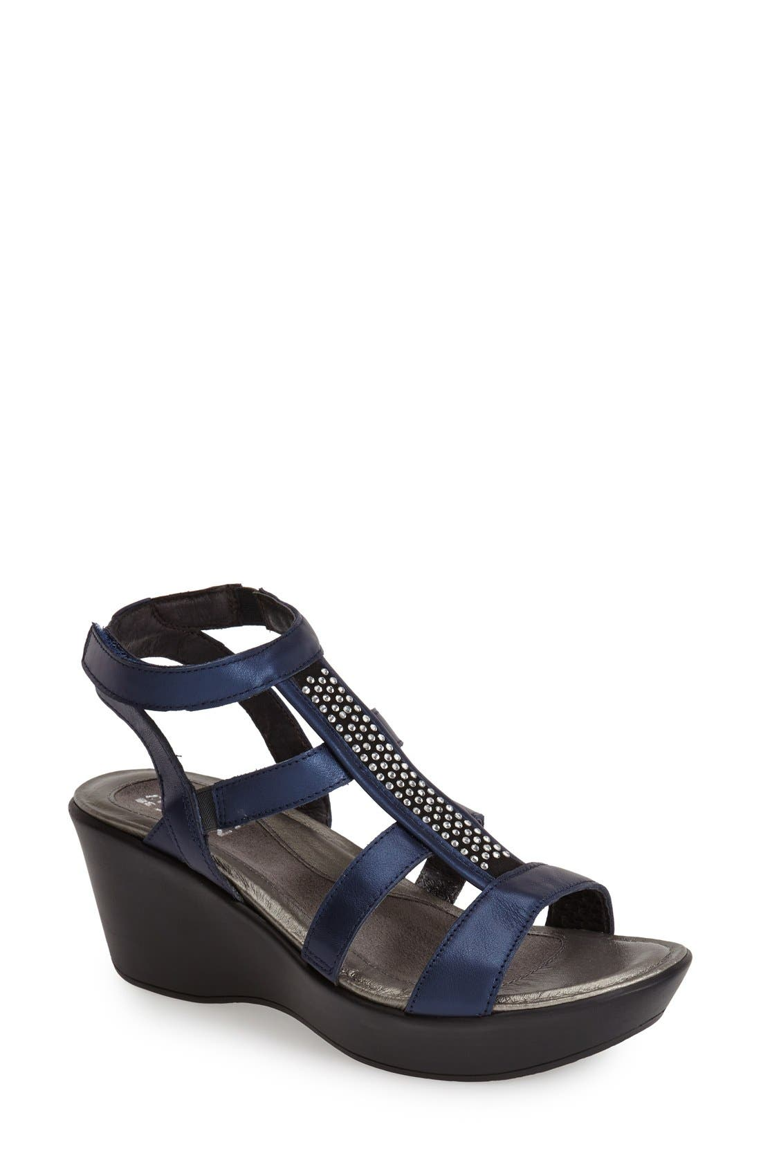 'Mystery' Platform Wedge Sandal,                             Main thumbnail 3, color,