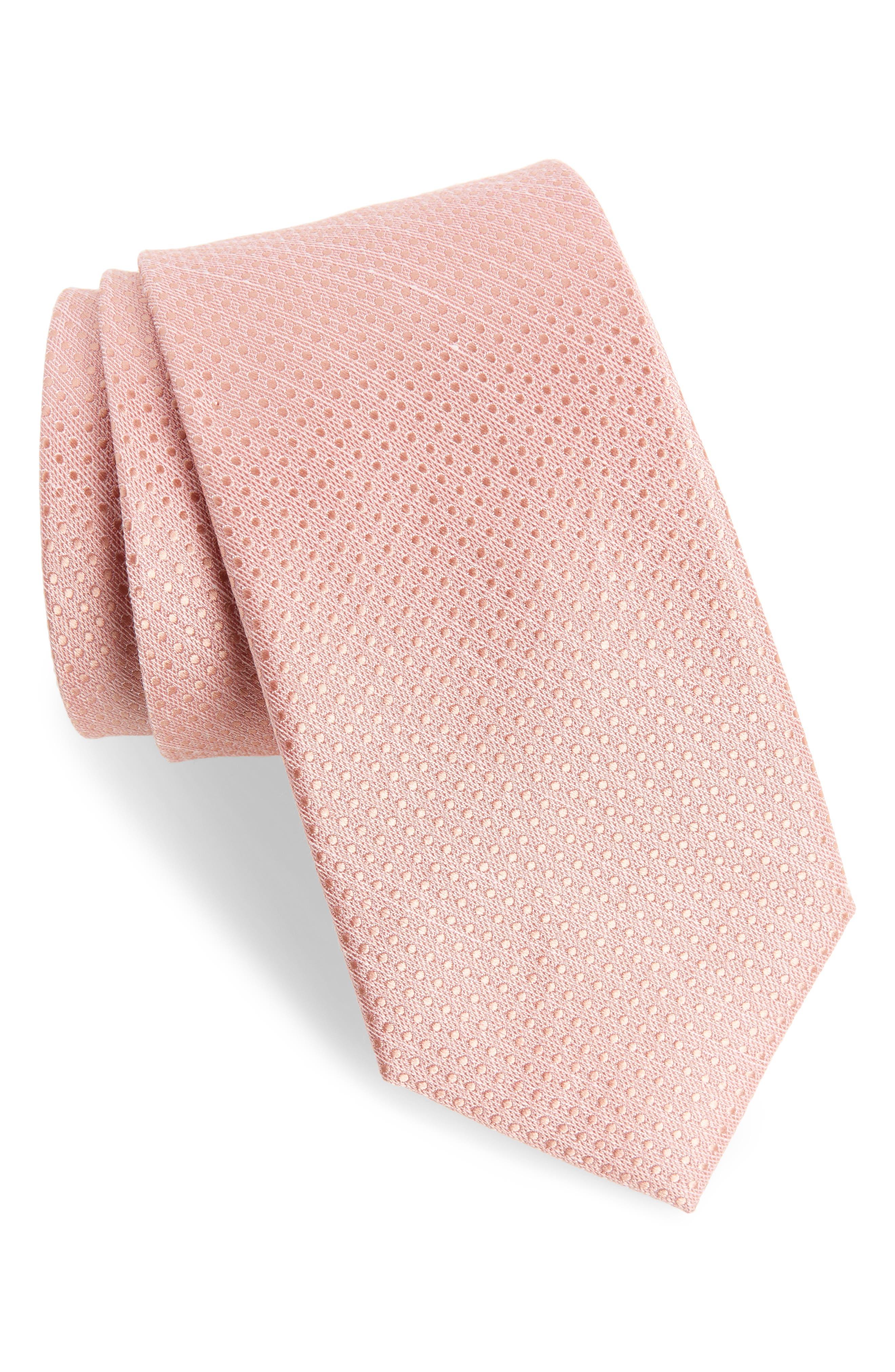 Dotten Dot Silk & Cotton Tie,                             Main thumbnail 3, color,