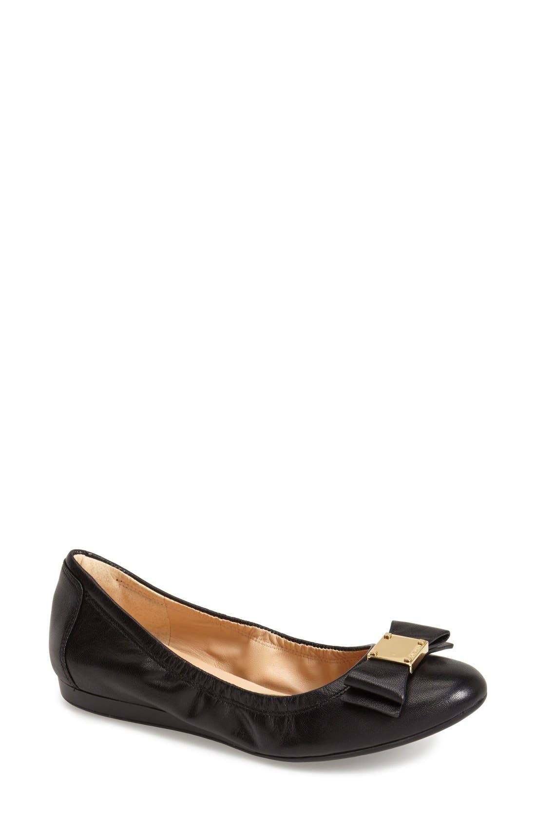 'Tali' Bow Ballet Flat,                             Main thumbnail 1, color,                             001