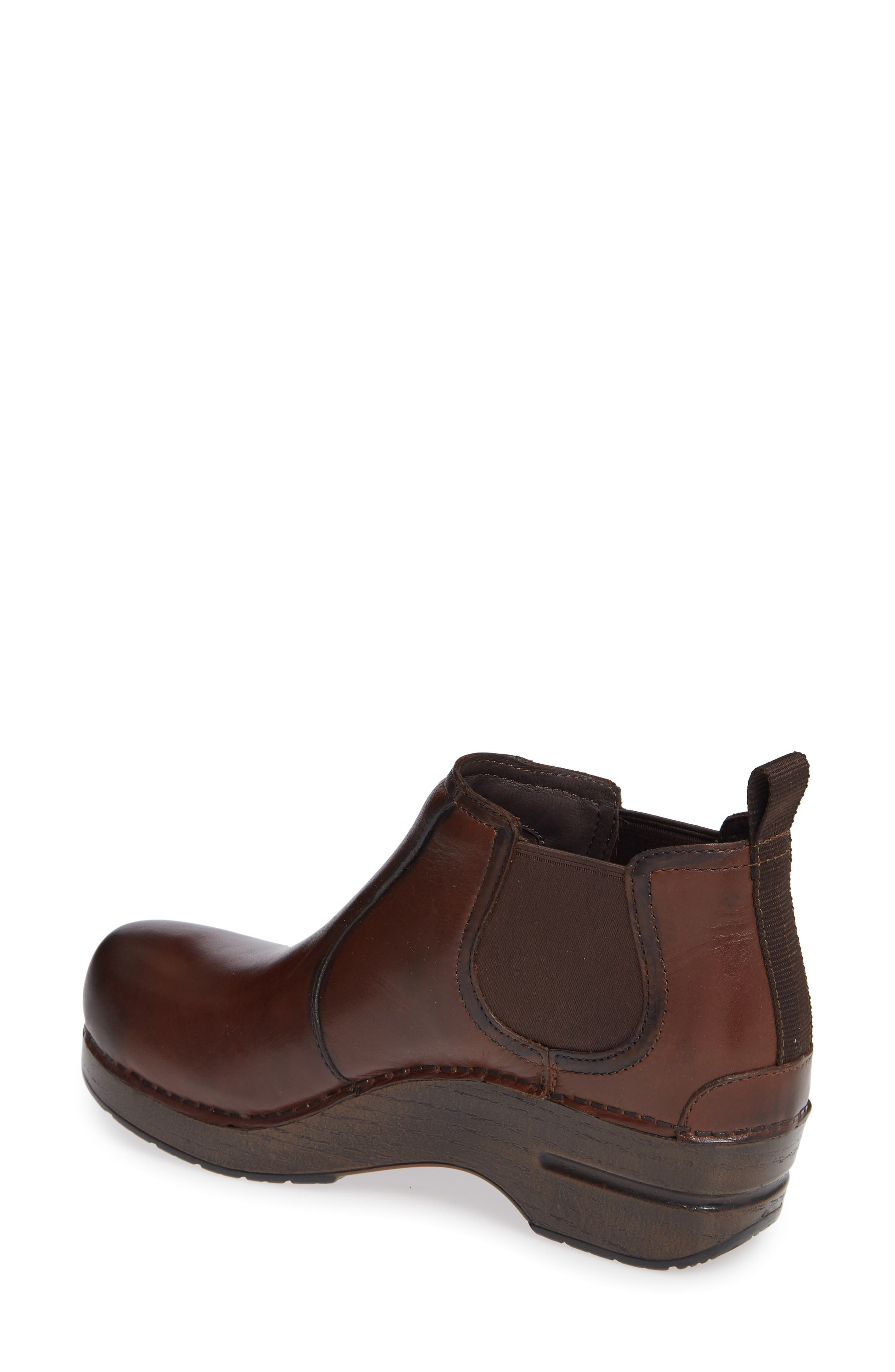 Frankie Bootie,                             Alternate thumbnail 2, color,                             BROWN LEATHER