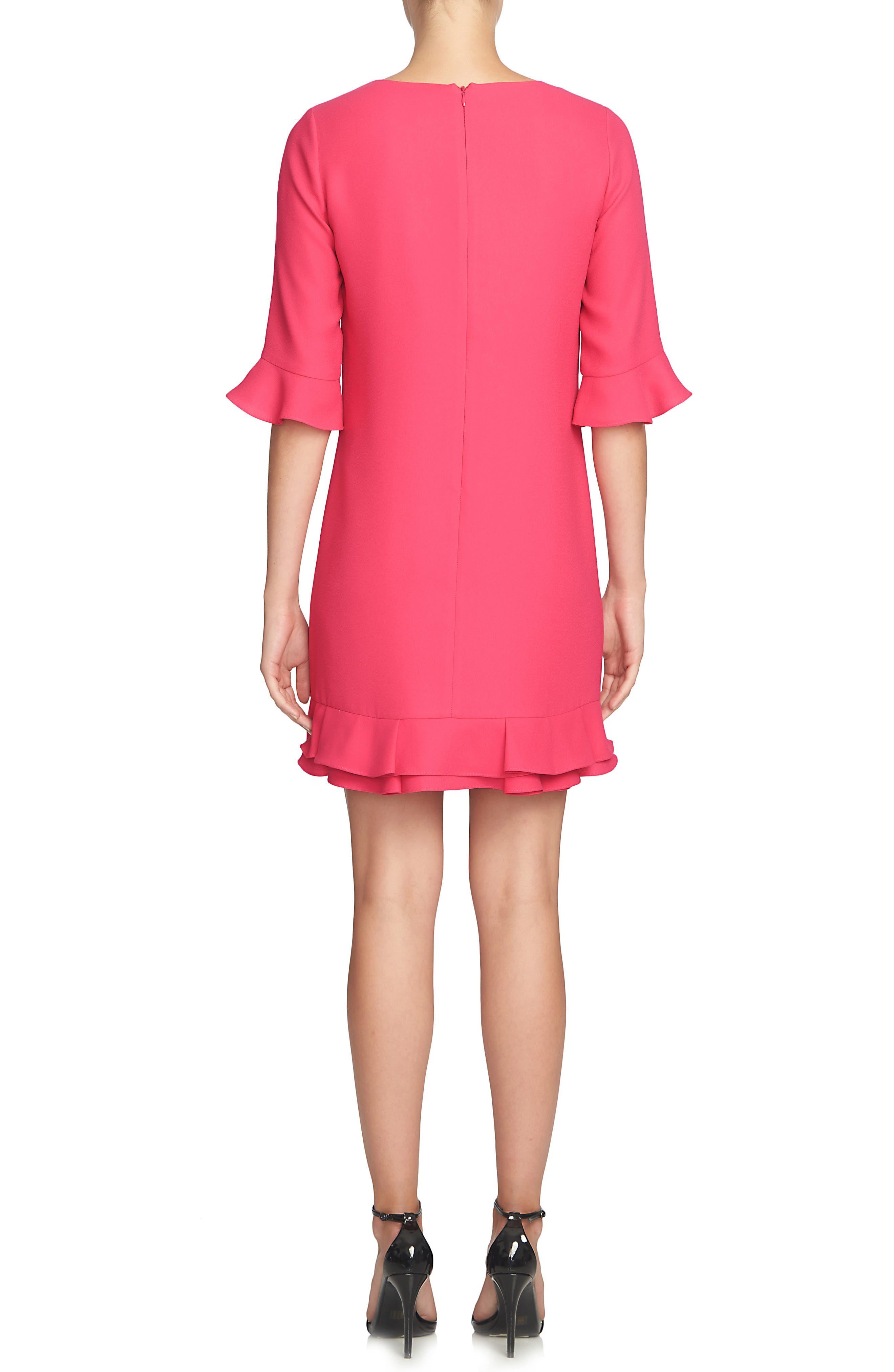 'Kate' Ruffle Hem Shift Dress,                             Alternate thumbnail 25, color,