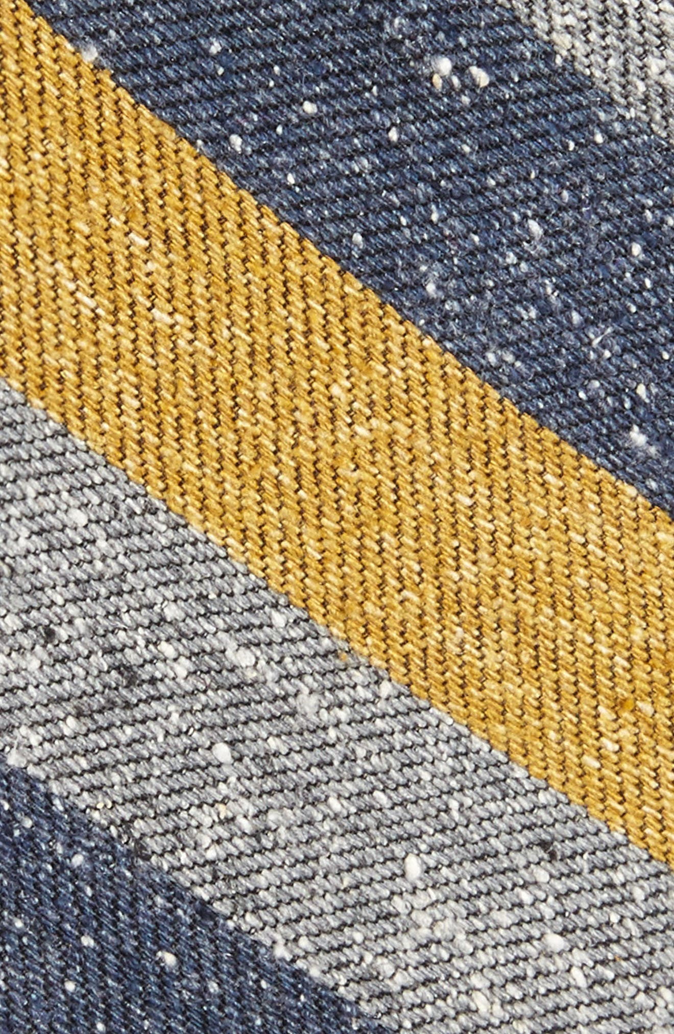 Varios Stripe Silk Skinny Tie,                             Alternate thumbnail 8, color,