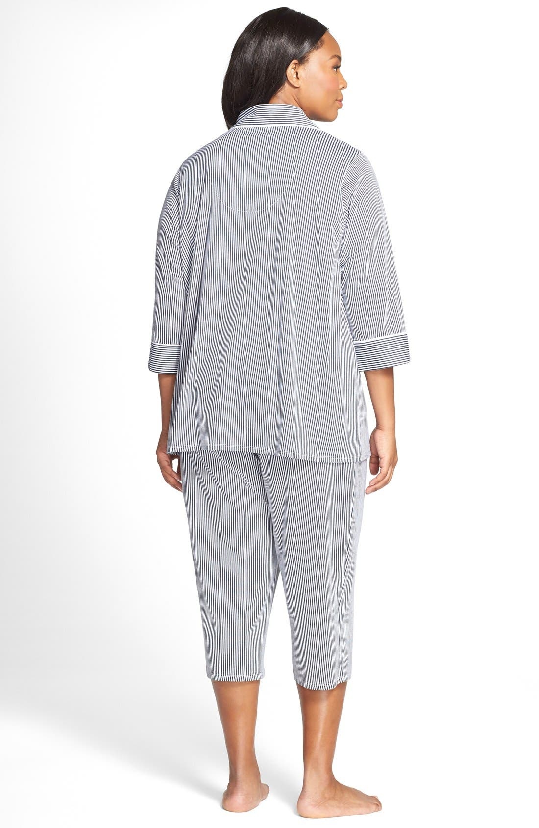 Knit Crop Pajamas,                             Alternate thumbnail 23, color,