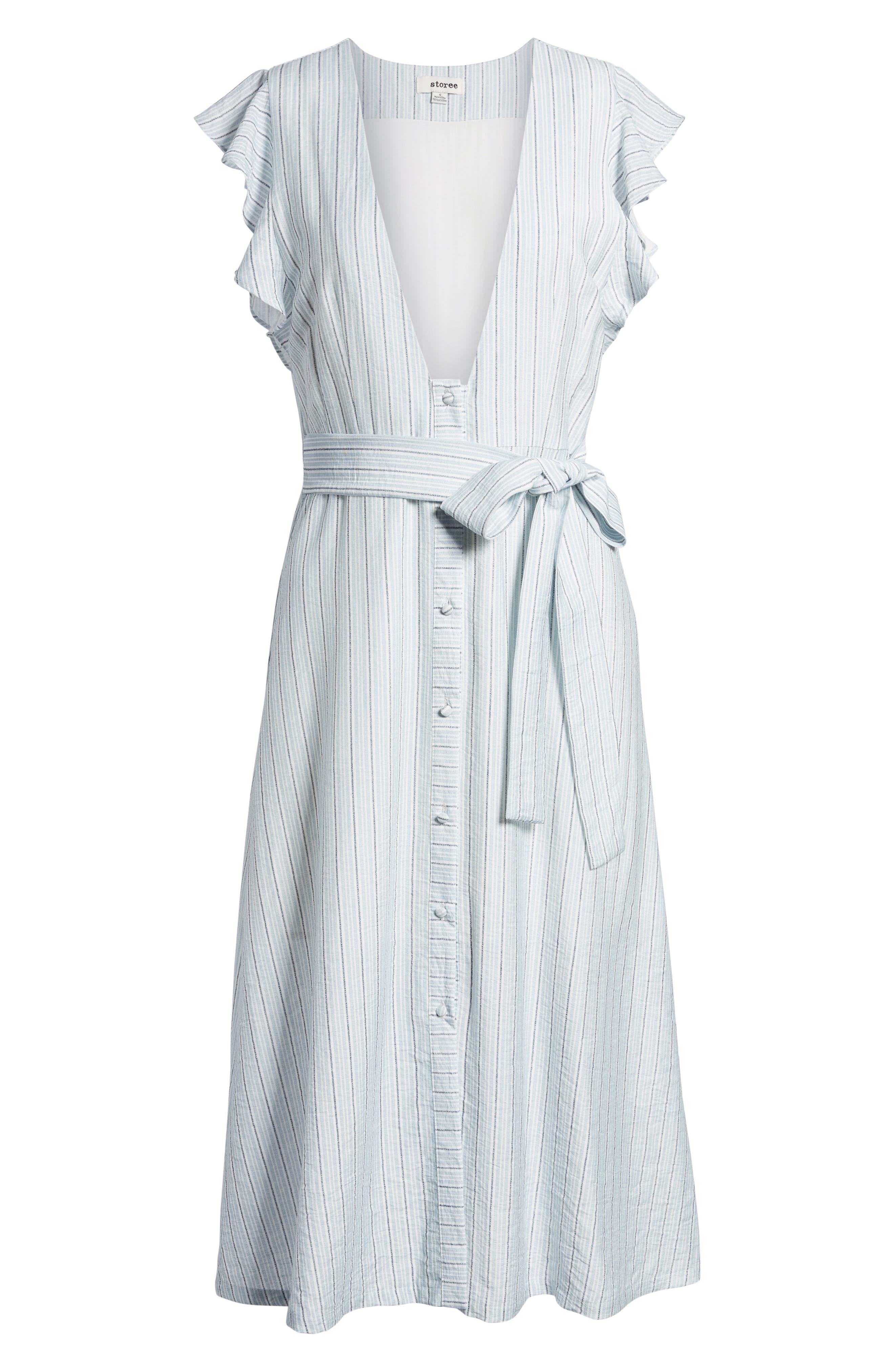 Button Front Midi Dress,                             Alternate thumbnail 6, color,                             400