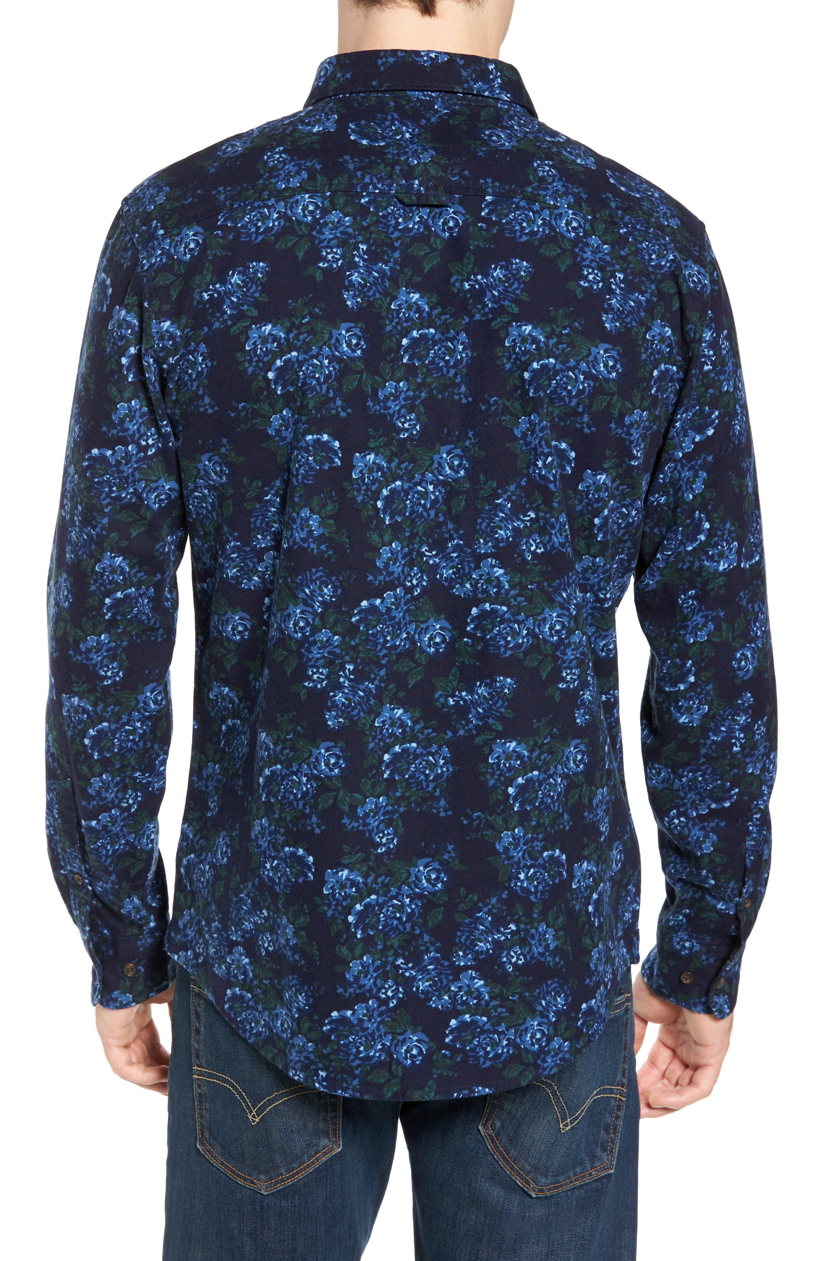 Print Flannel Shirt,                             Alternate thumbnail 6, color,