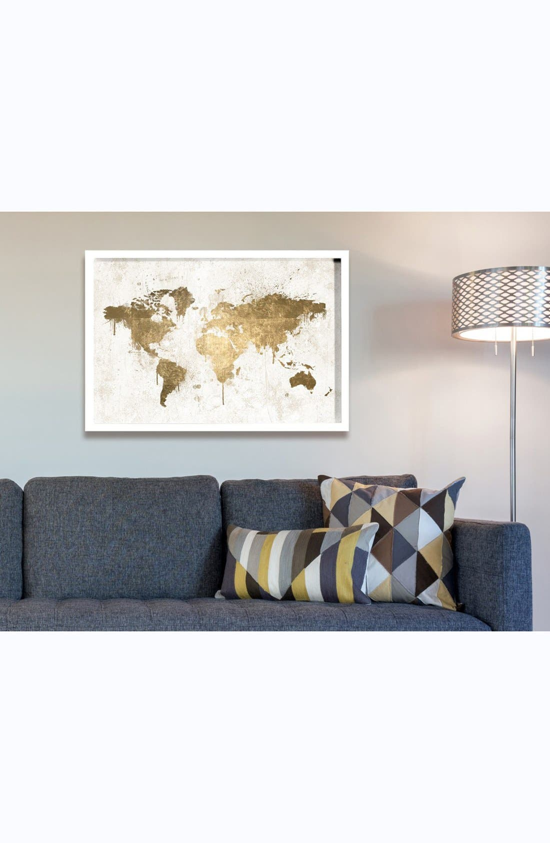 'Mapamundi' Framed Art Print,                             Alternate thumbnail 2, color,                             100