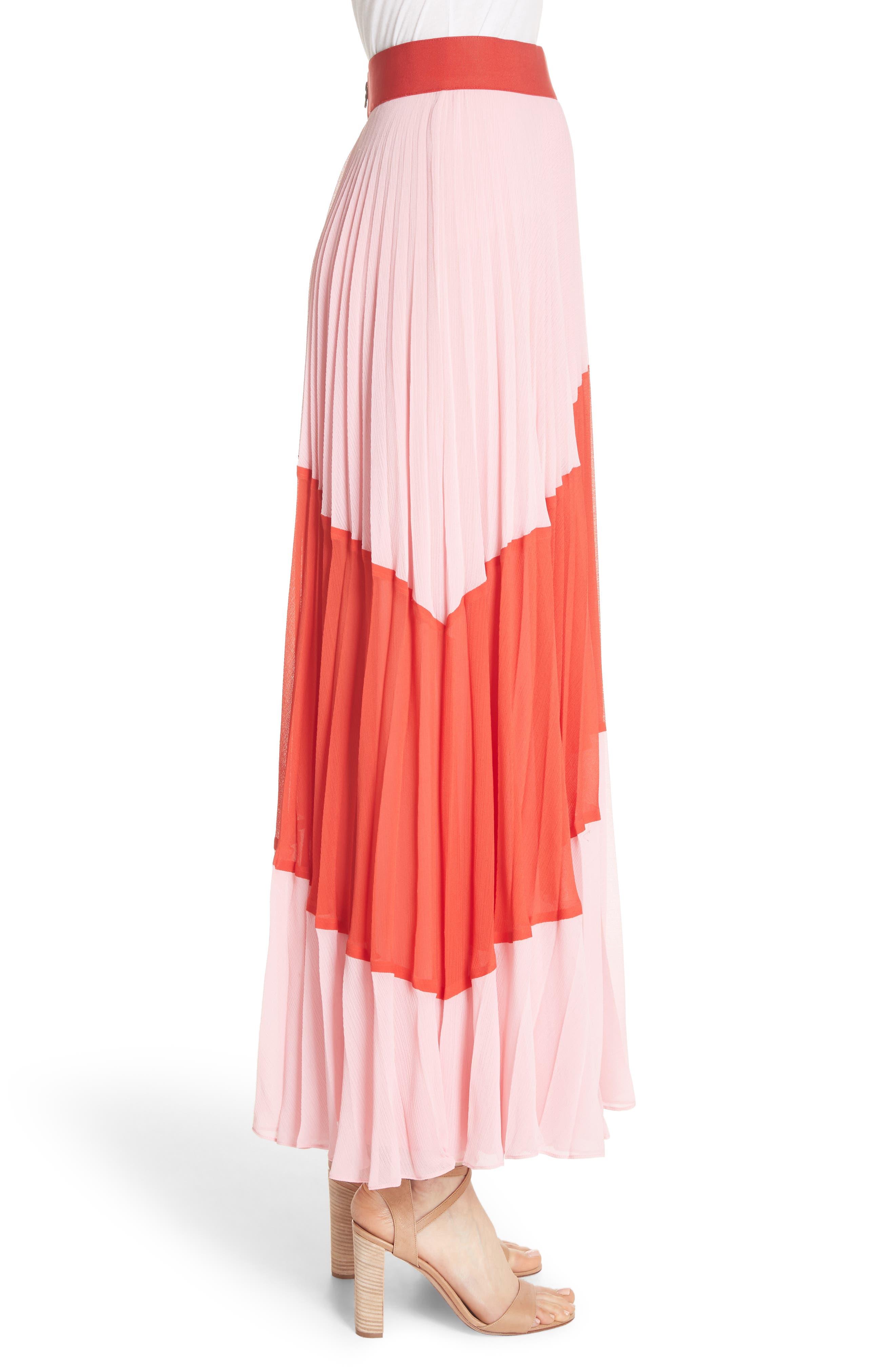 Tavi Colorblock Maxi Skirt,                             Alternate thumbnail 3, color,                             615