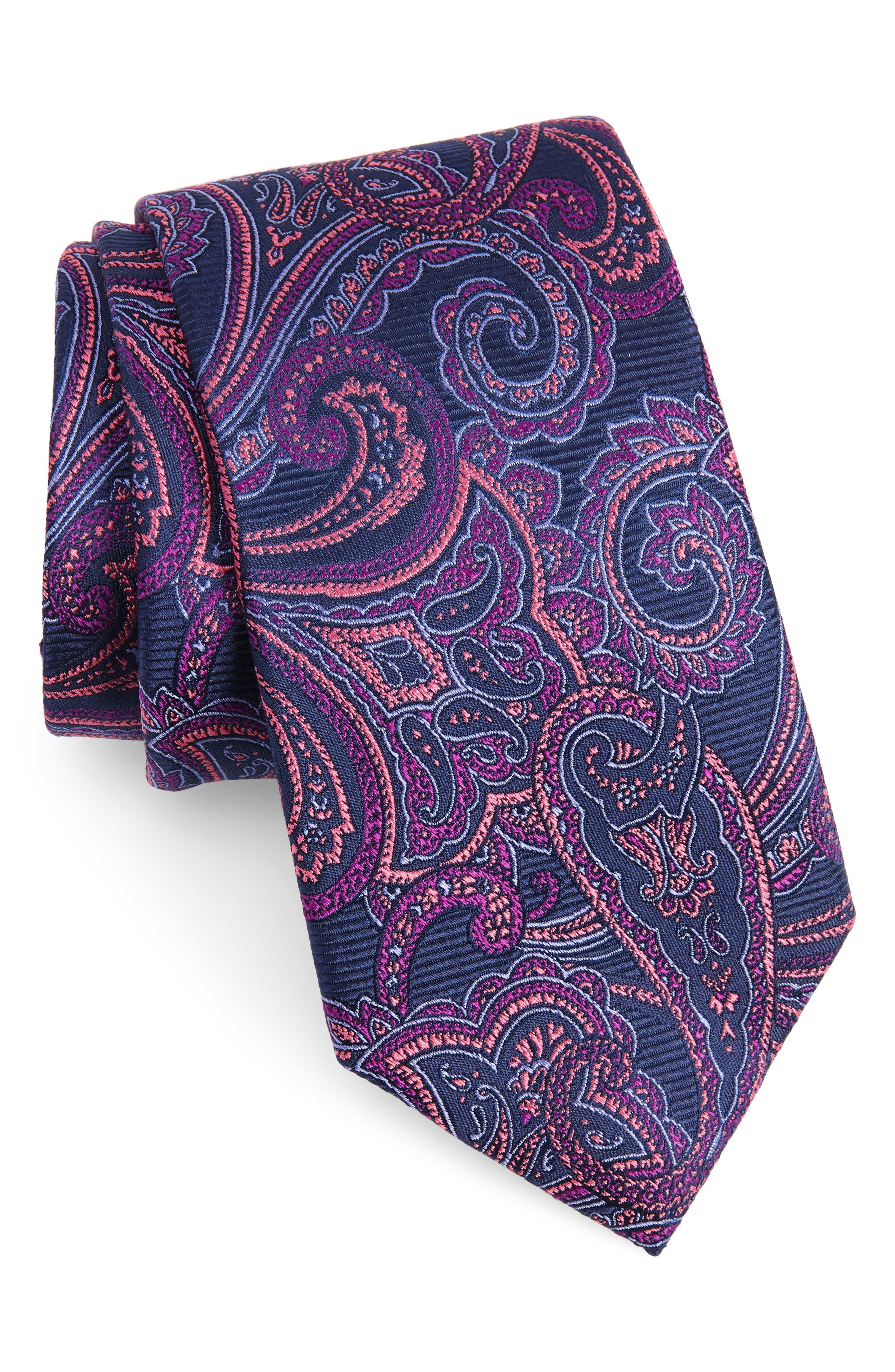 Avalon Paisley Silk Tie,                             Main thumbnail 3, color,