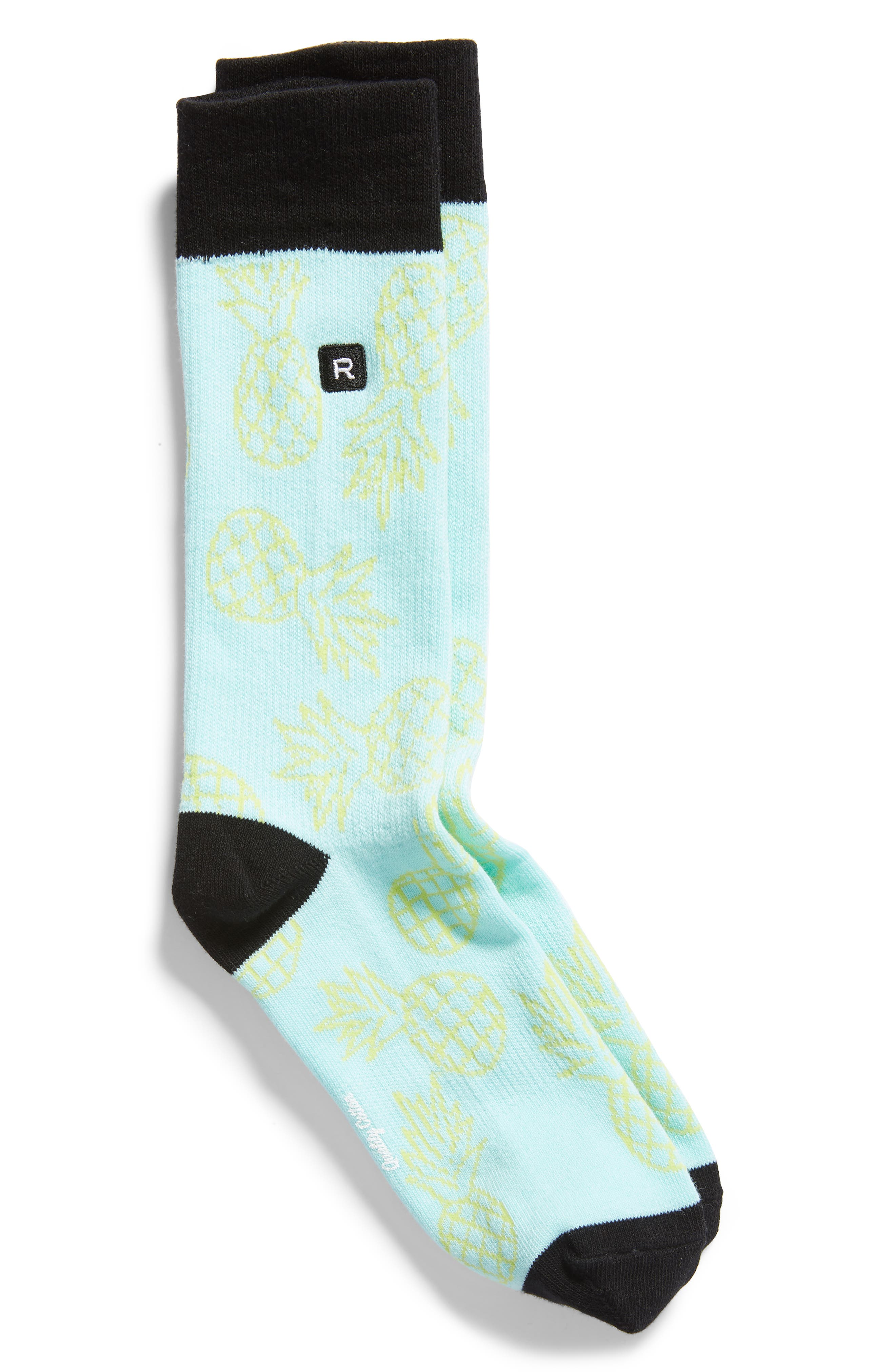 Luau Everyday Crew Socks,                             Main thumbnail 1, color,                             MINT