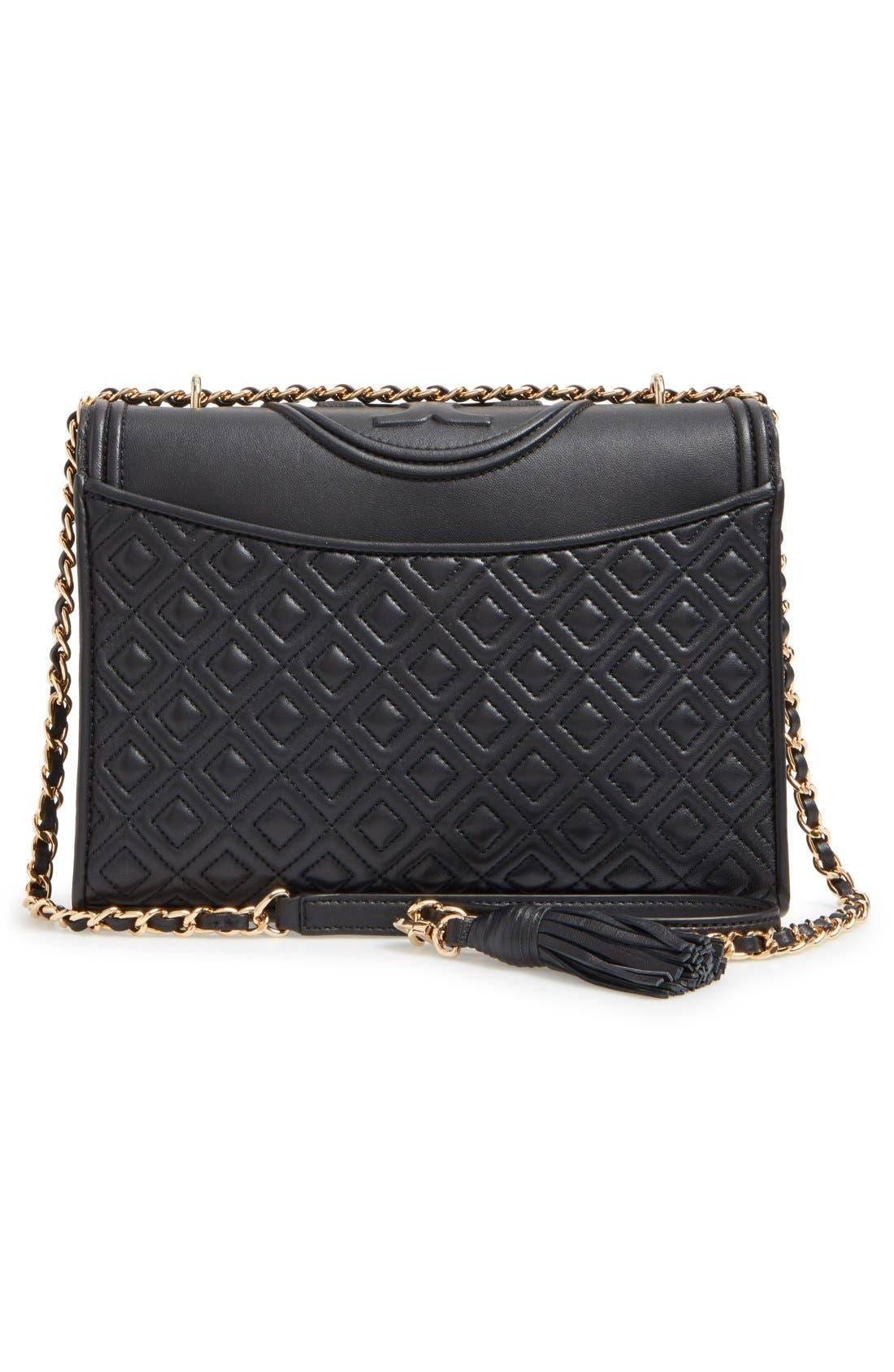 'Fleming' Convertible Shoulder Bag,                             Alternate thumbnail 3, color,                             BLACK