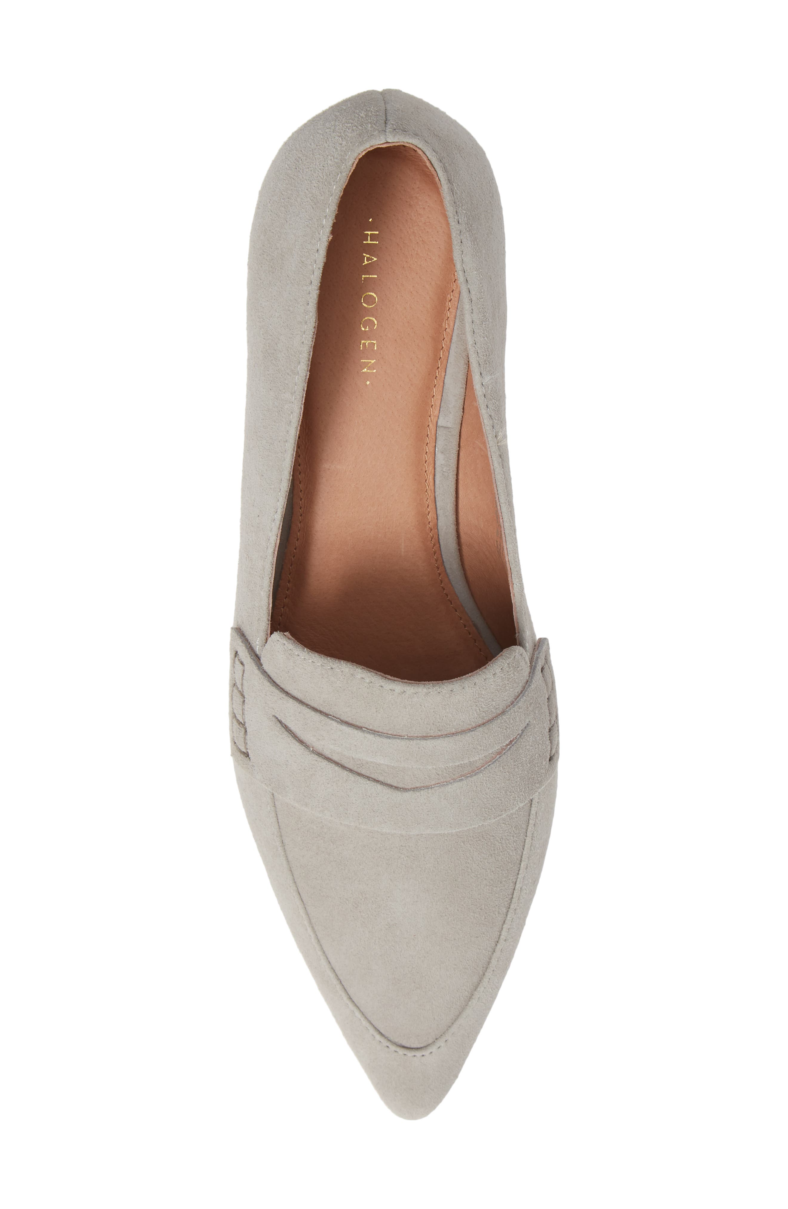 Isabelle Pointy Toe Pump,                             Alternate thumbnail 5, color,                             LIGHT GREY SUEDE