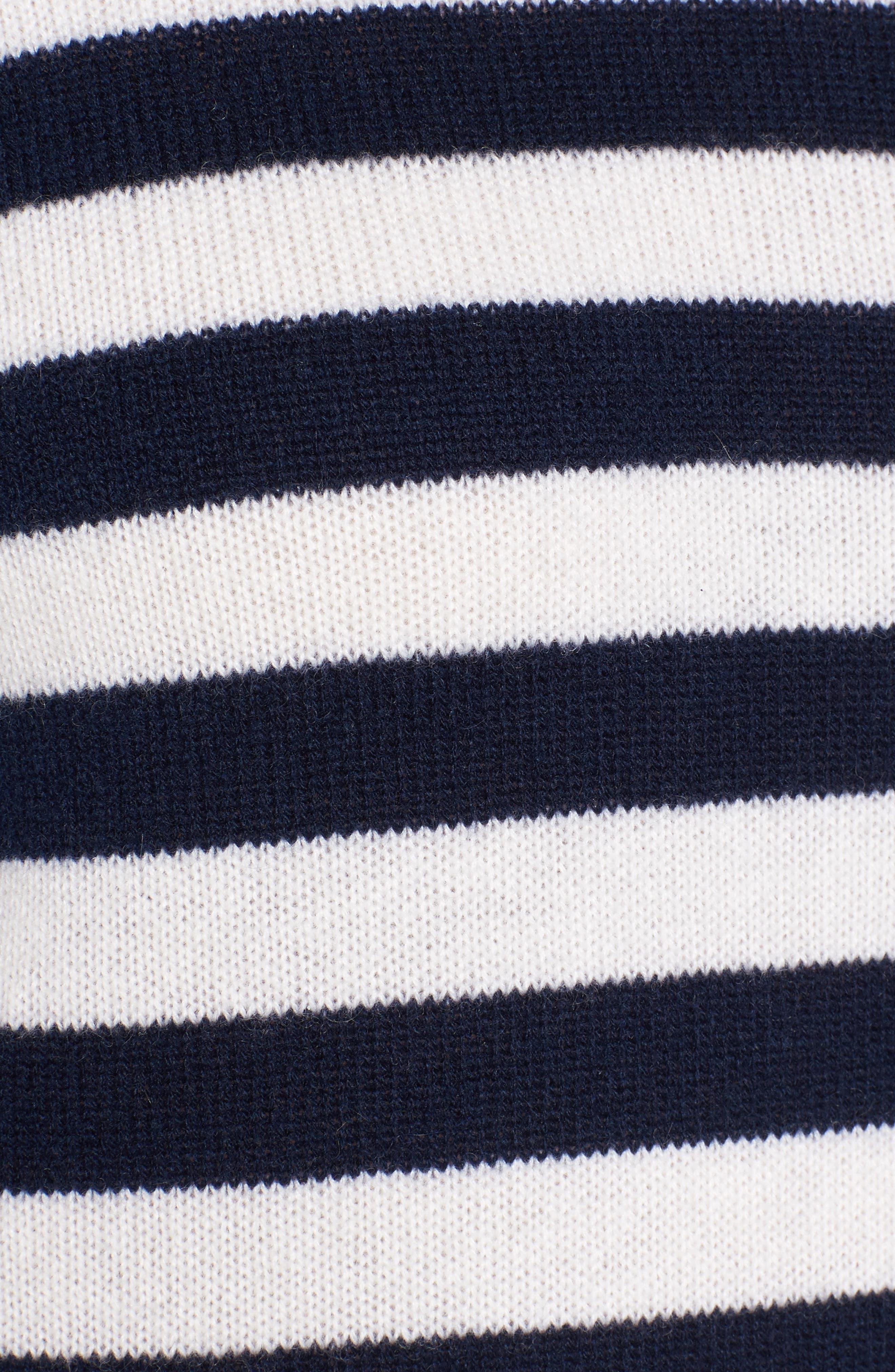 Stripe Cashmere Sweater,                             Alternate thumbnail 5, color,                             410